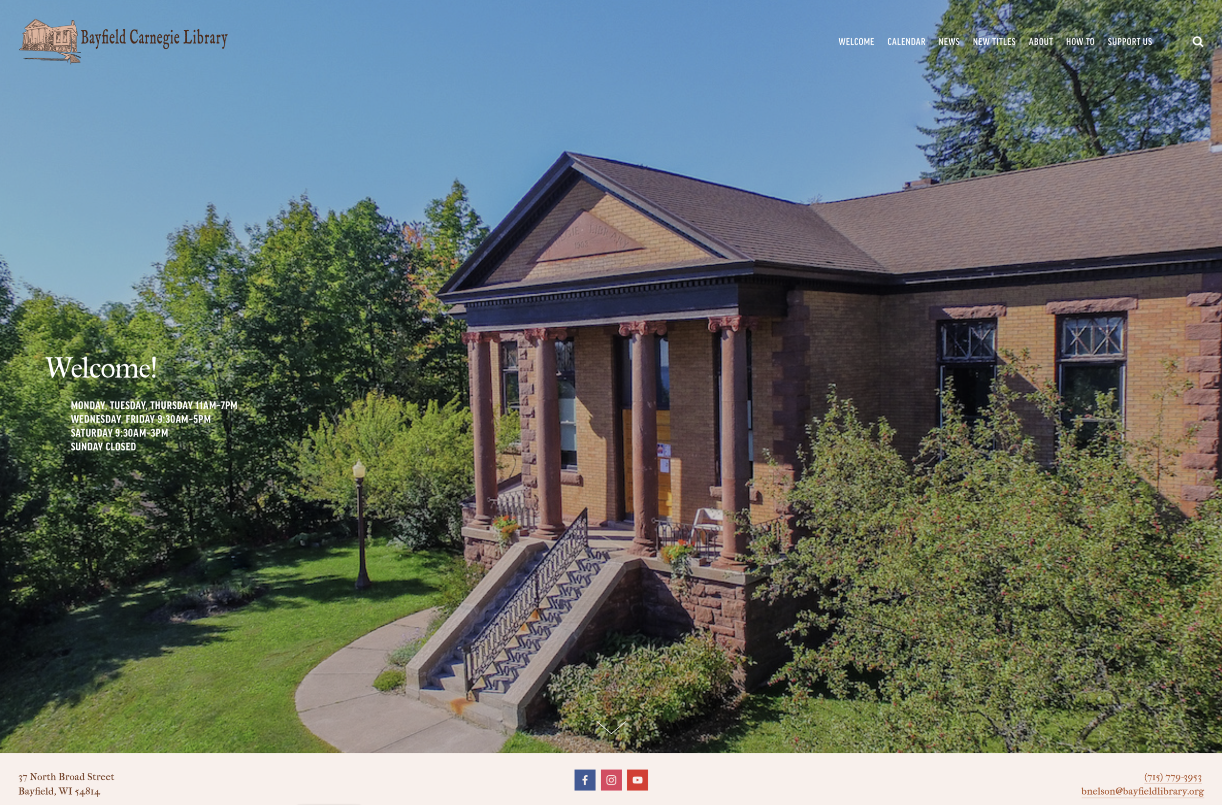 Bayfield Carnegie Library website.png