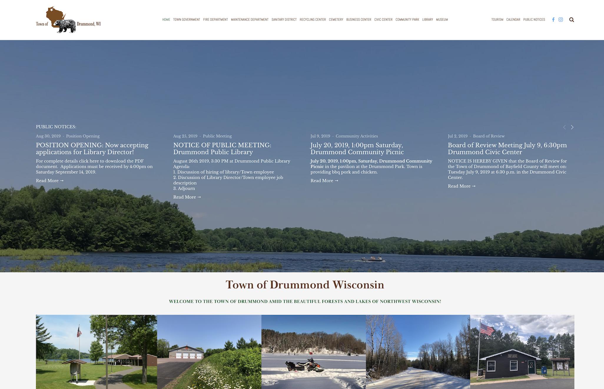 Town of Drummond website.png