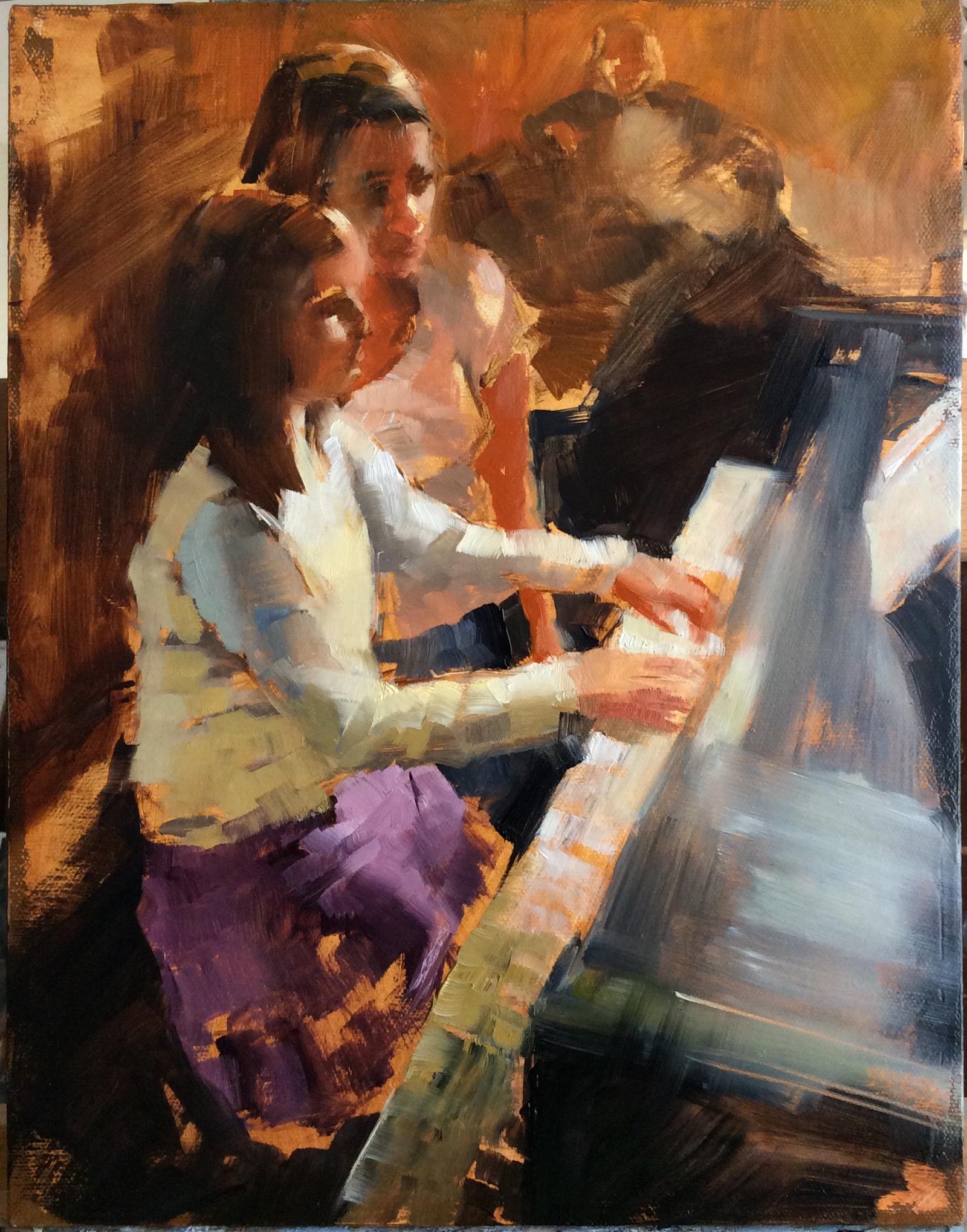 "Oil on Canvas, 11"" x 14"" study 1"