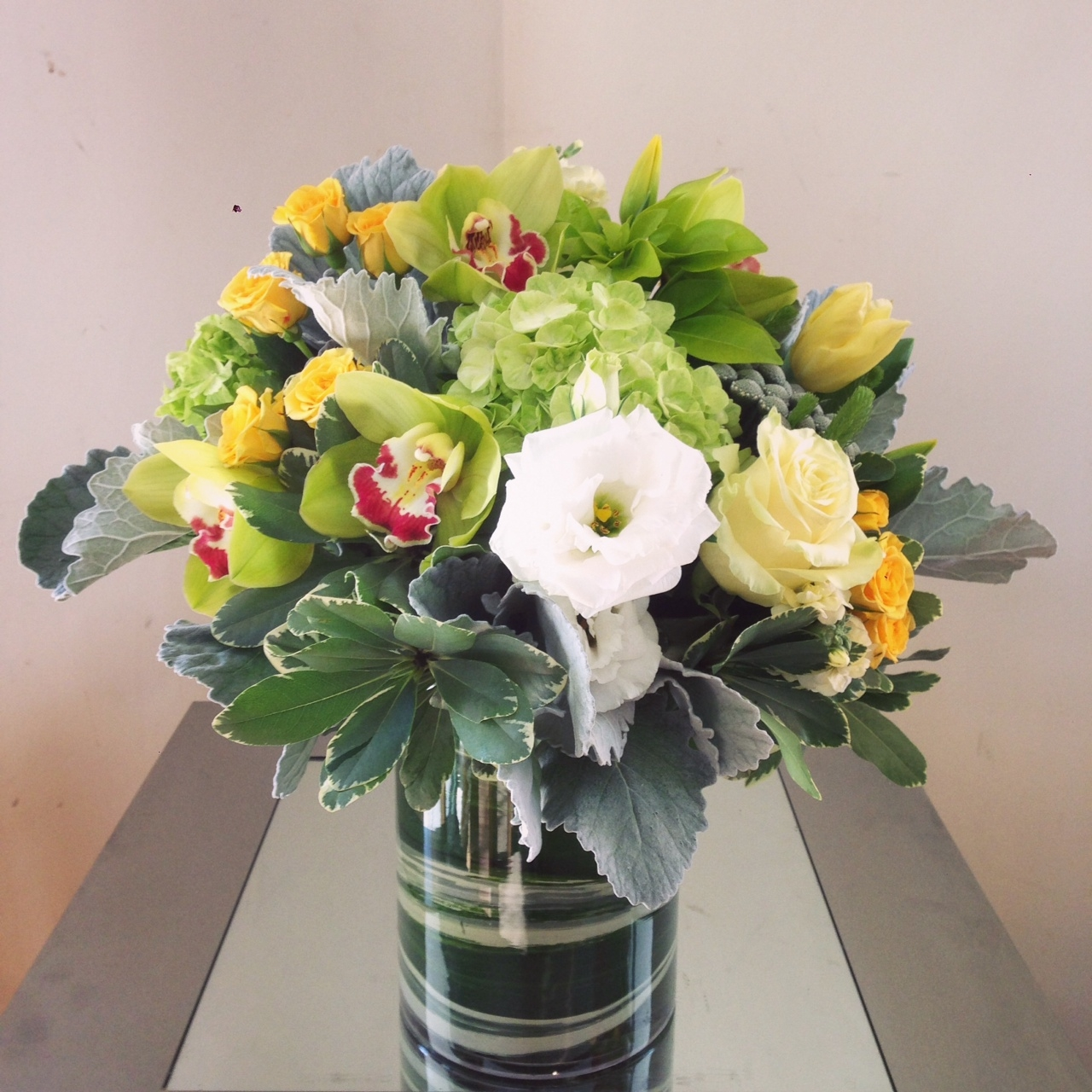 Yellow and white arrangement.JPG