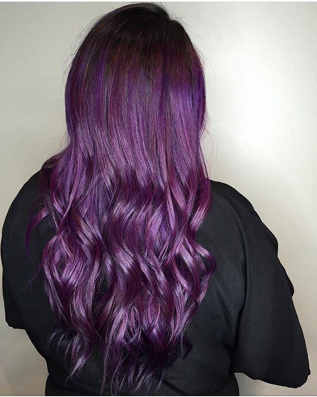 A purple so perfect. 💜  Hair by @hairbysabrii