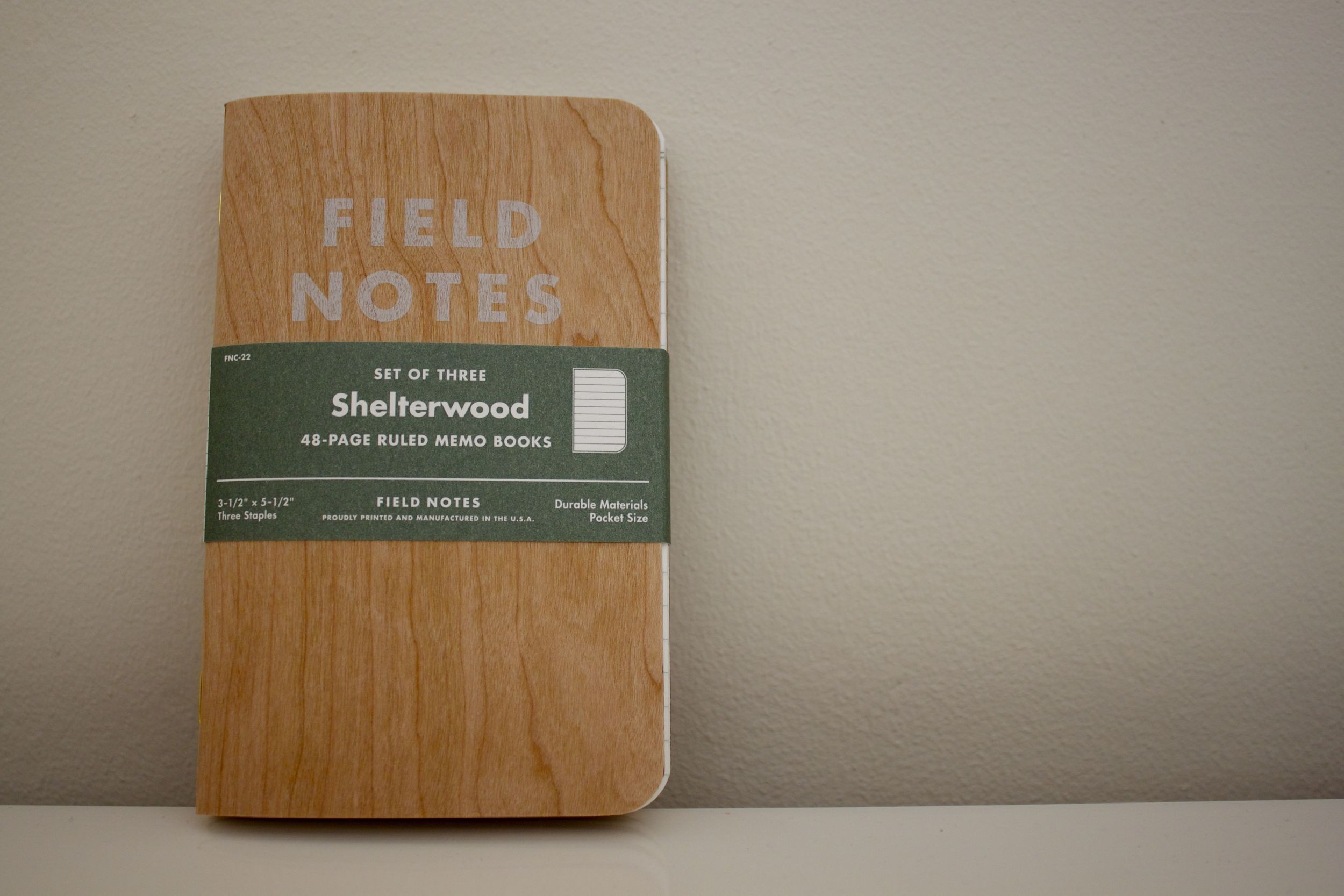 Field notes with belly band