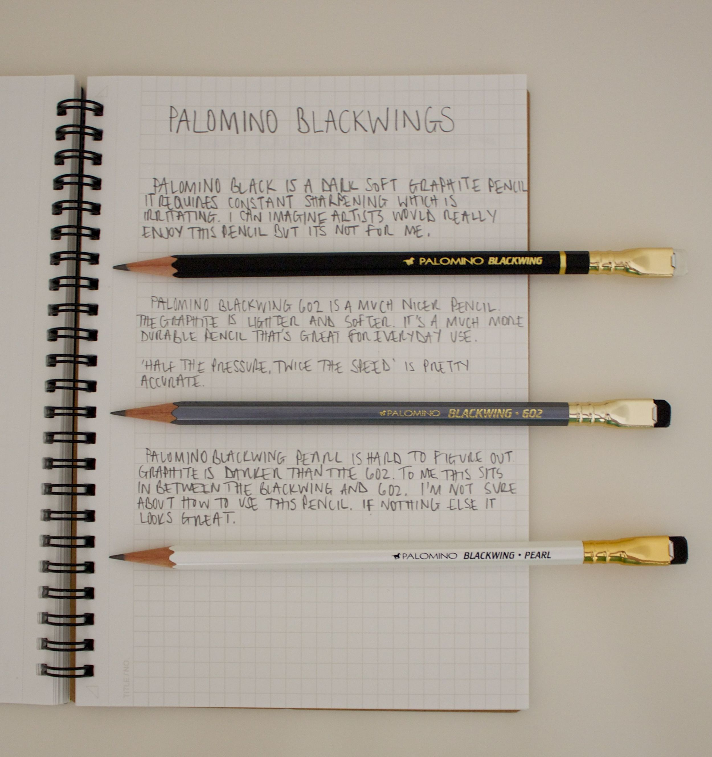 Palomino Blackwing written reviews