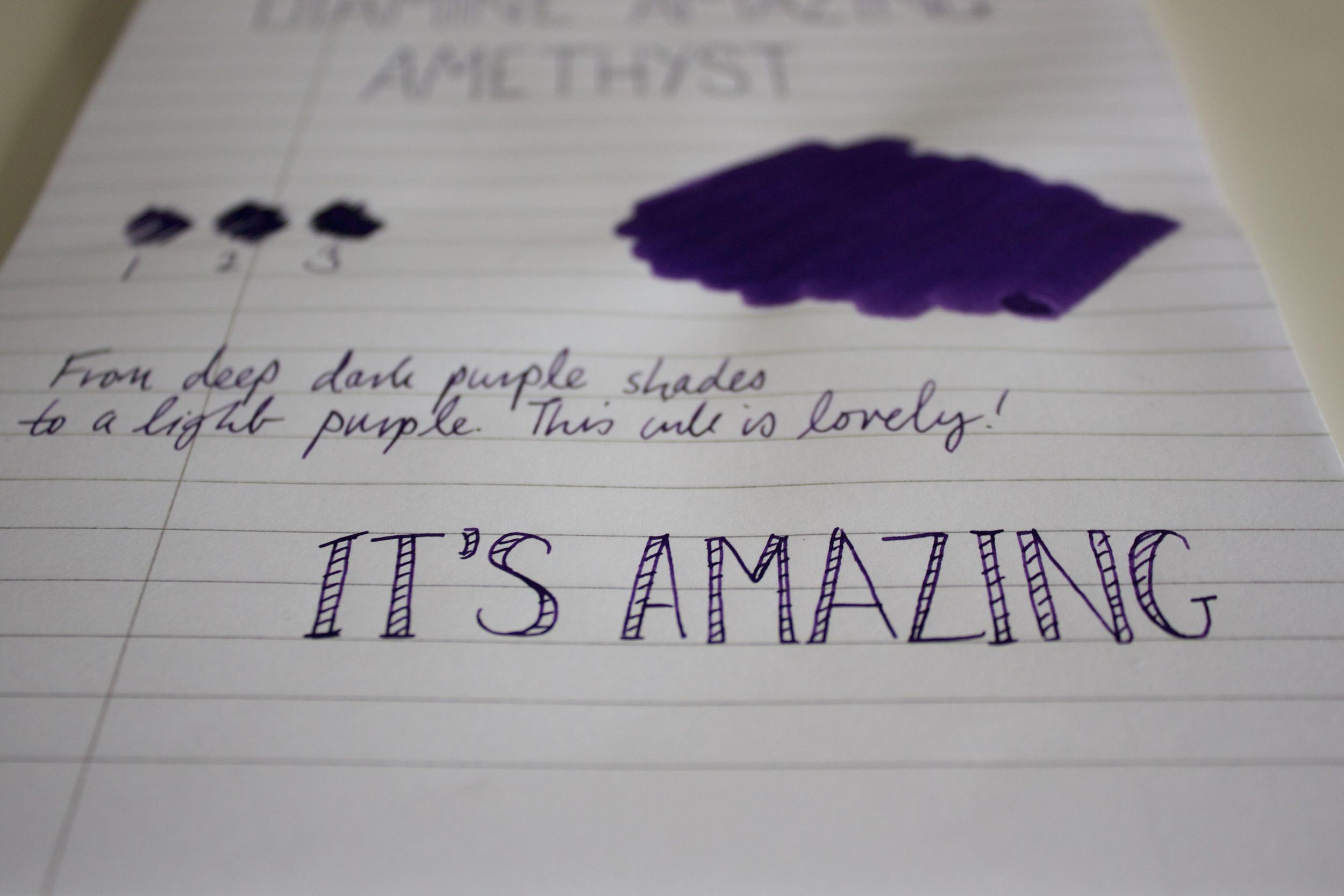 Hints of purple