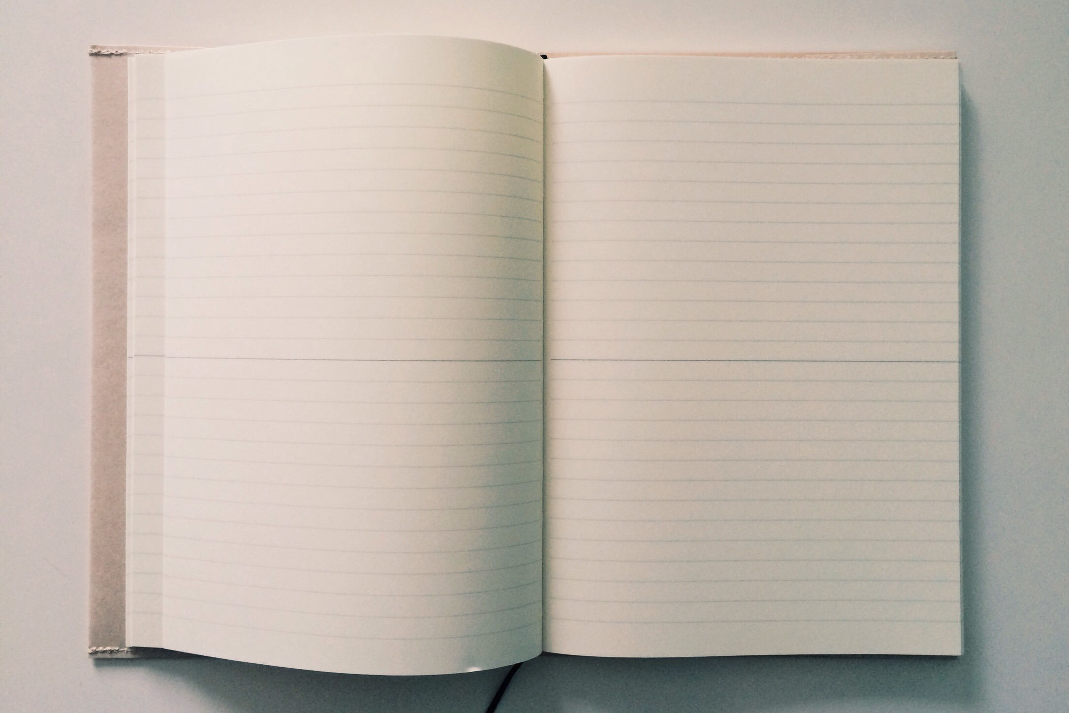 The inside of the Midori MD A5 notebook