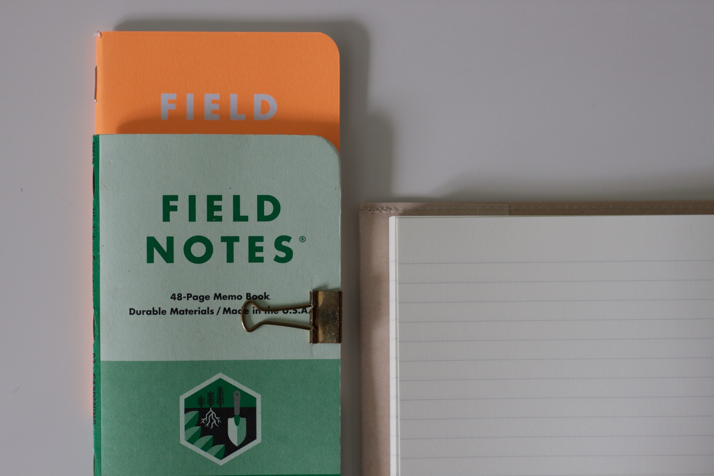 Field Notes Workshop Companion secured with a Marks Clip