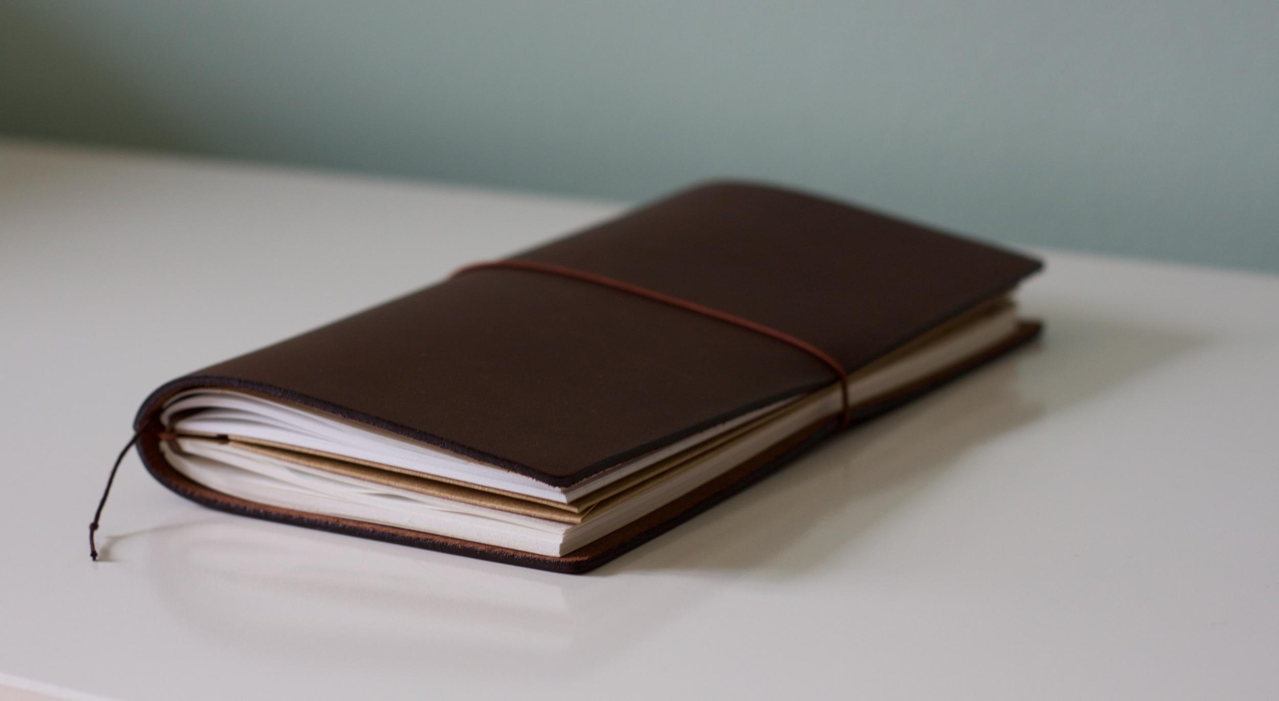 Regular Midori Travelers Notebook, brown leather