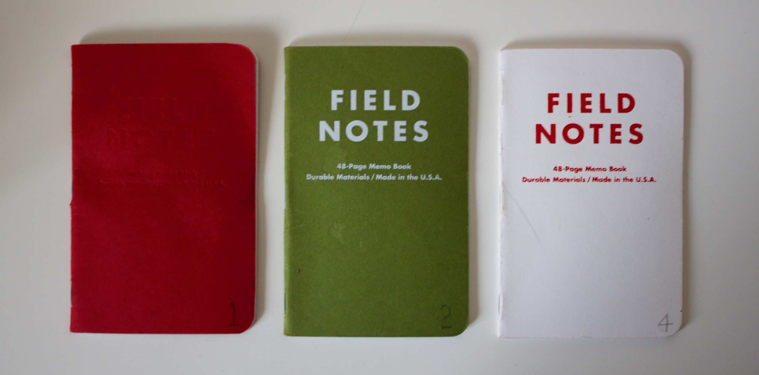 My first 3 completed notebooks