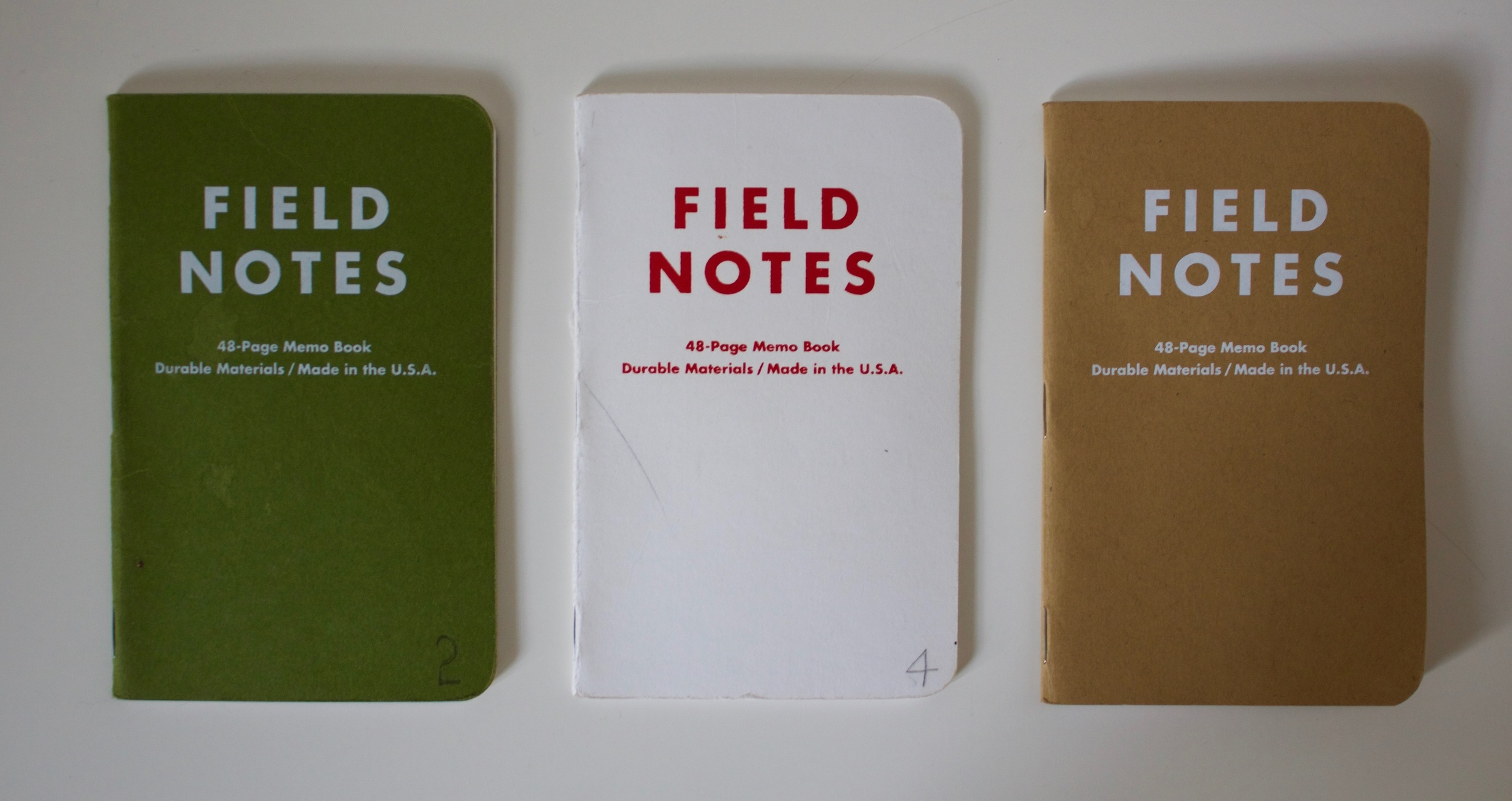 My 3 Day Game notebooks