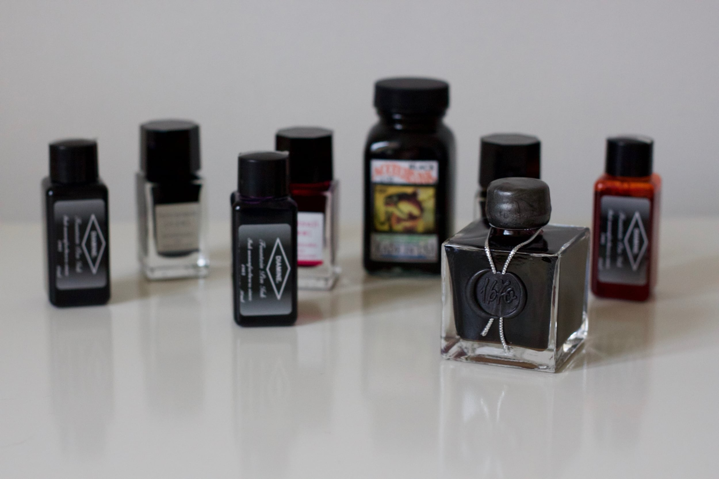 A selection of my inks