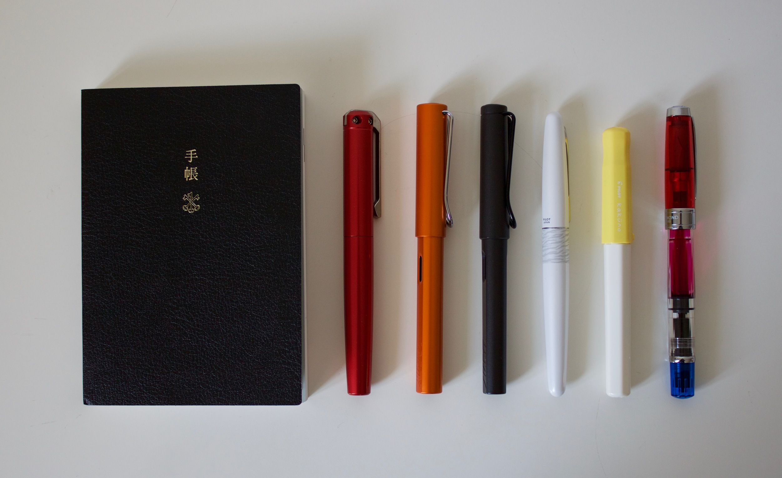 My Hobonichi Techo and the fountain pens I use most
