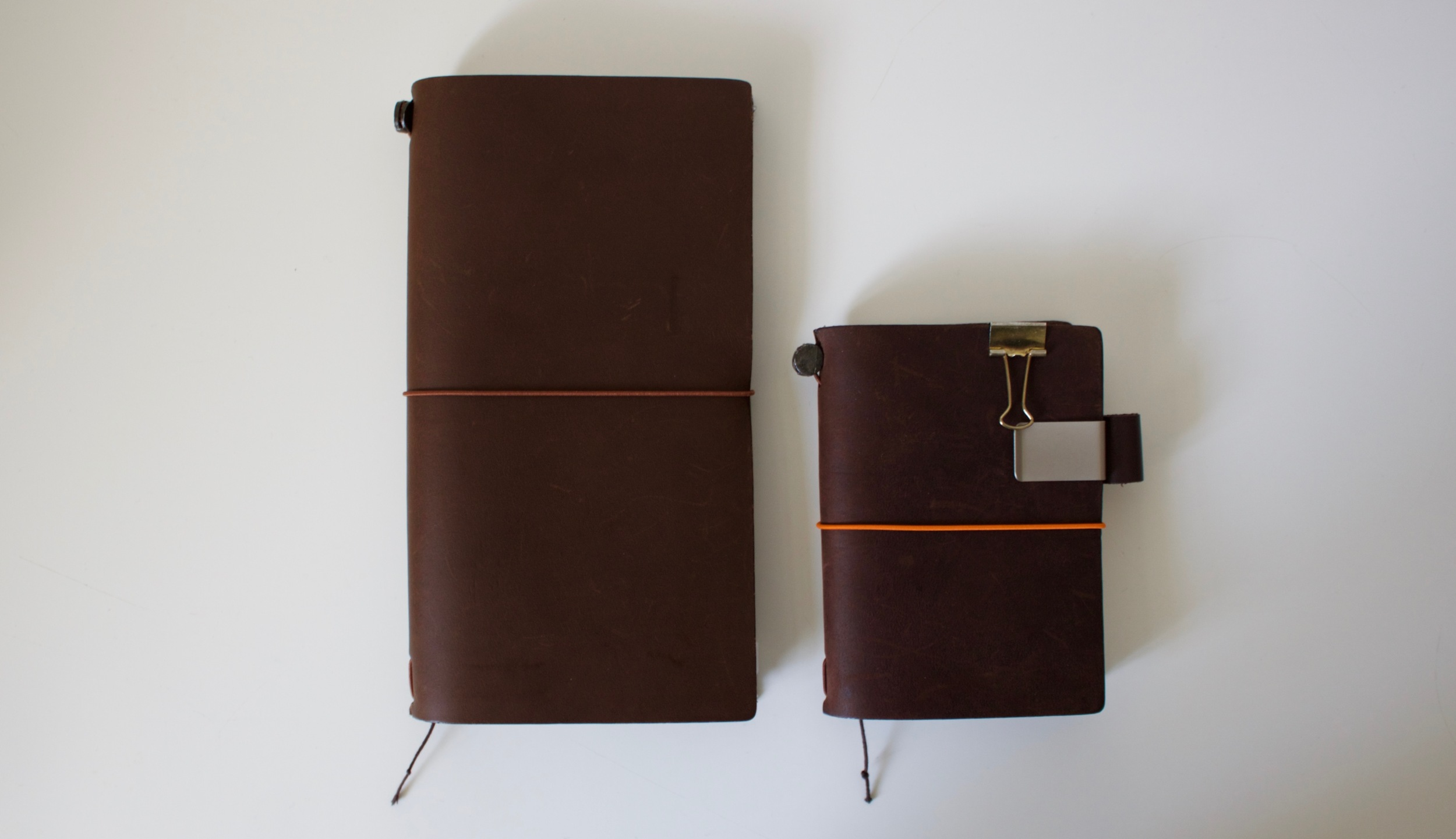 Regular Travelers Notebook and the passport size