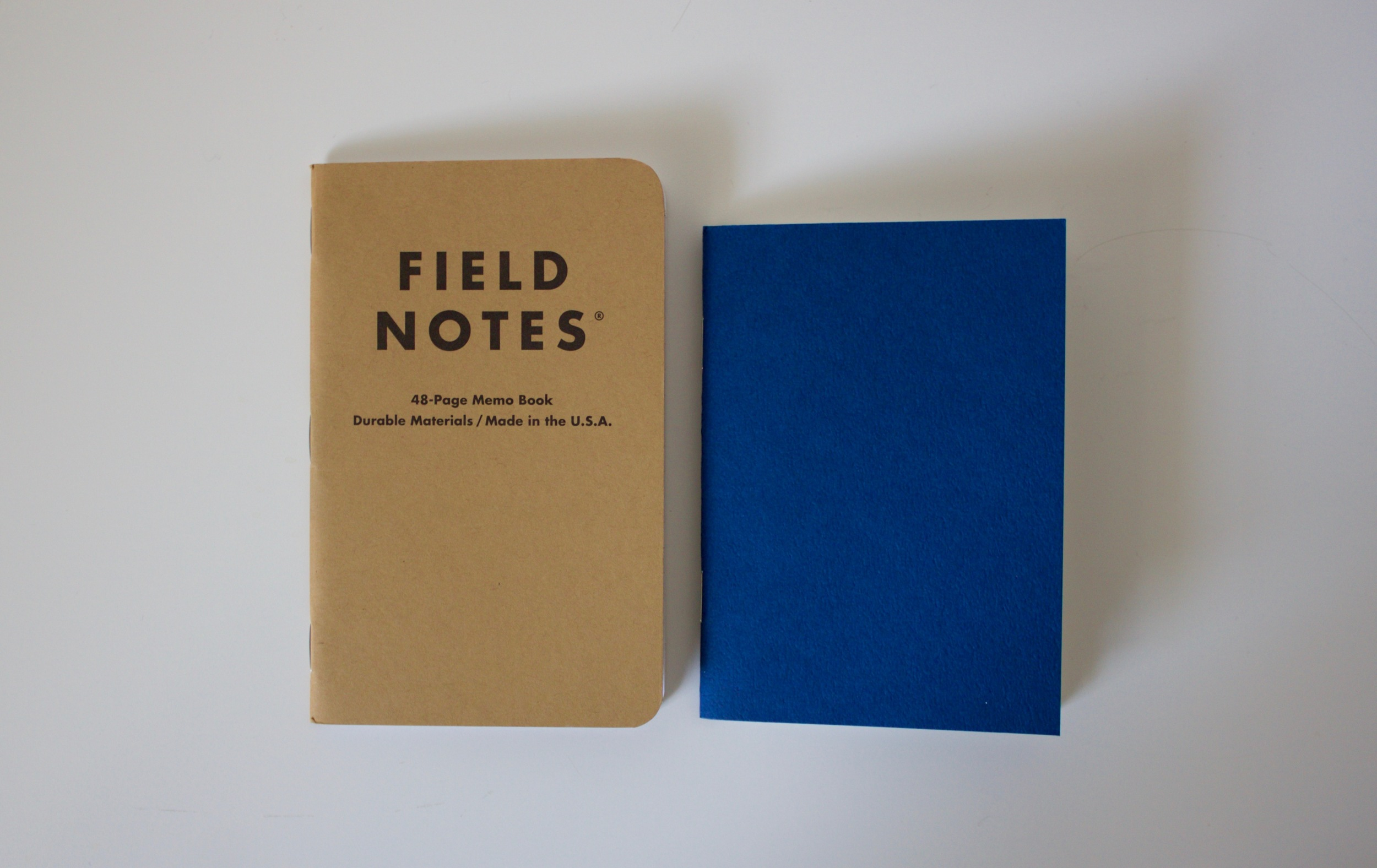 Field Notes memo book in comparison to the Midori Passport sized ruled refill