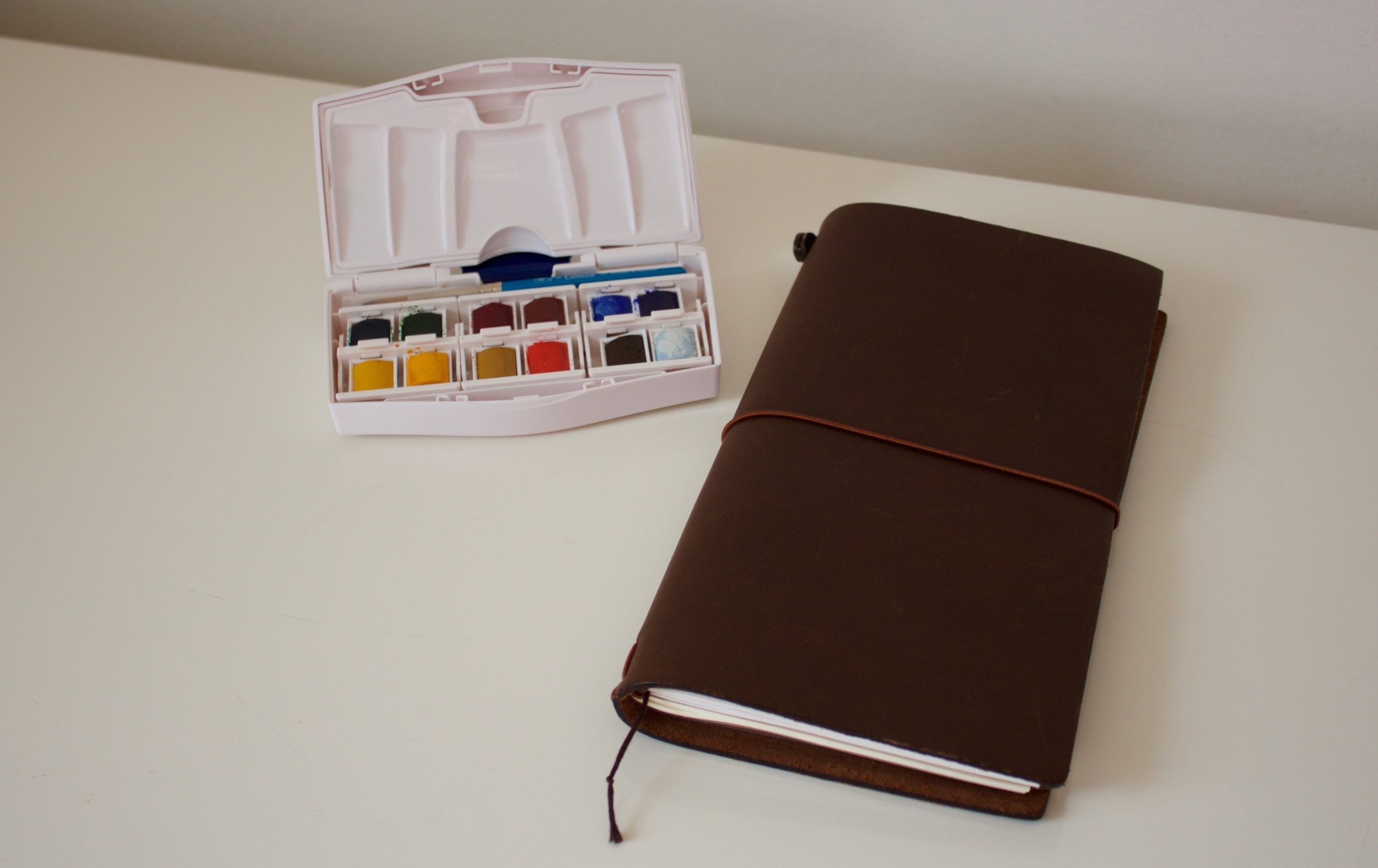 Winsor and Newton watercolours and my Travelers Notebook