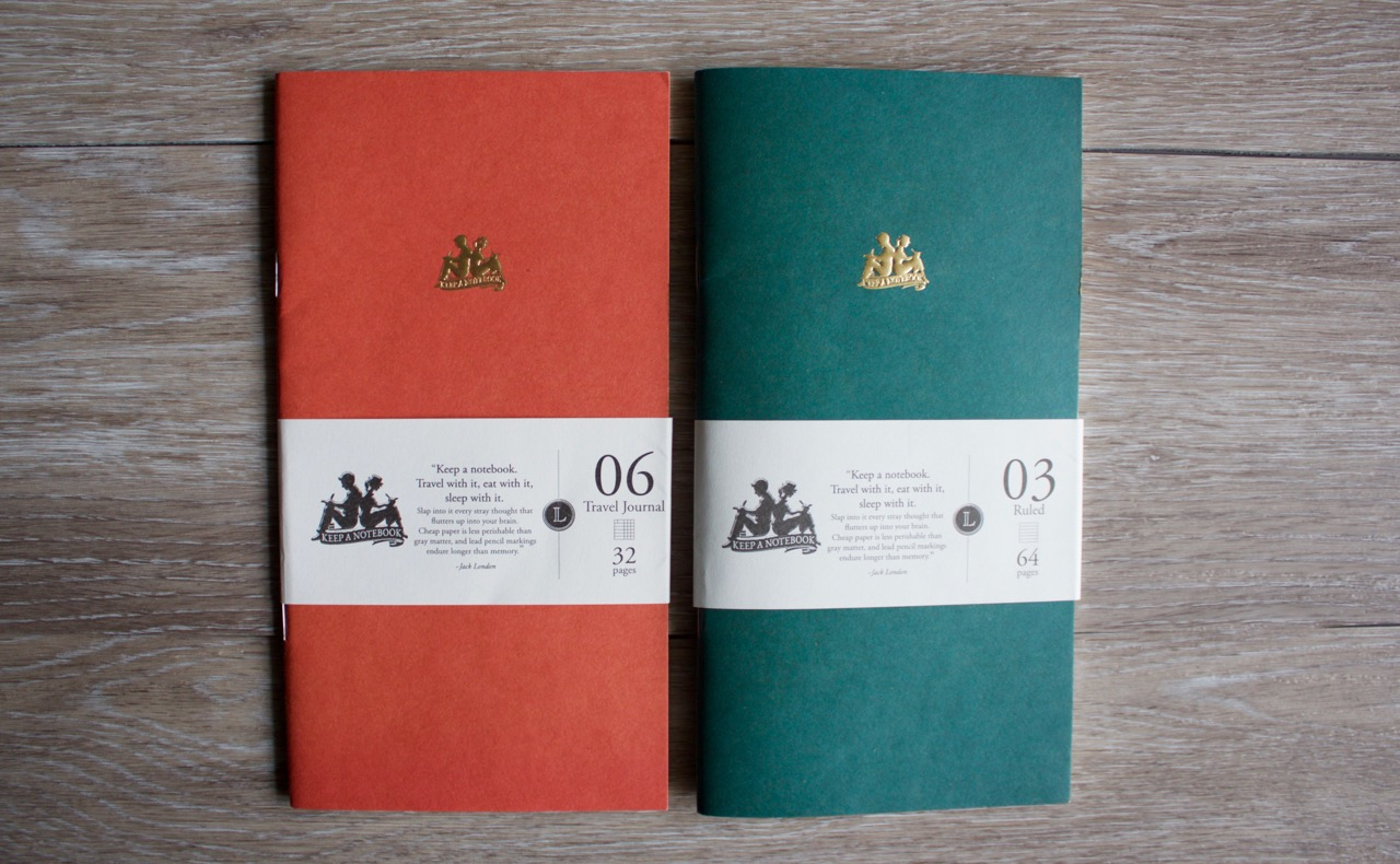 The Keep a Notebook travel journal insert and the ruled insert