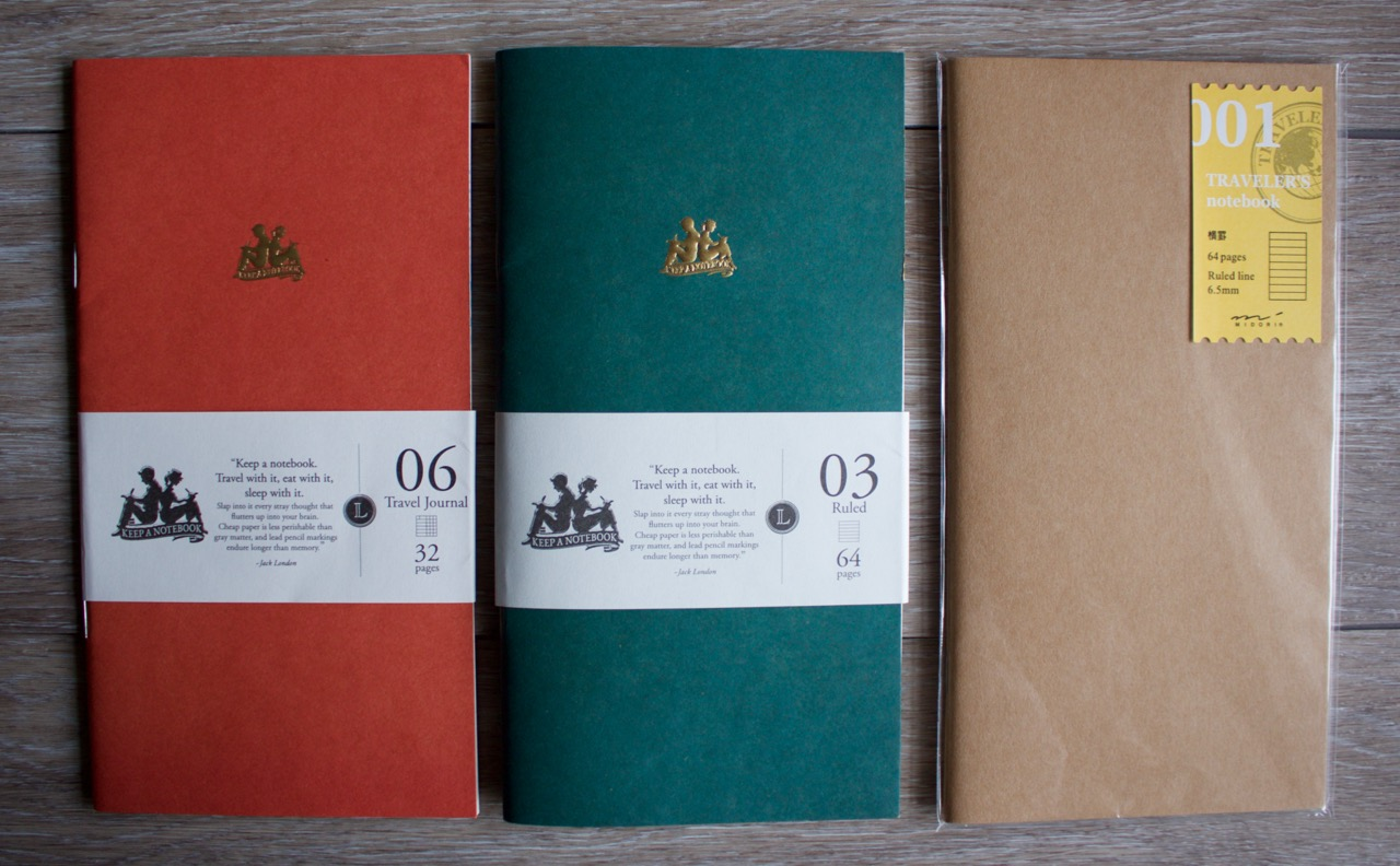Keep a Notebook and the Midori branded ruled insert