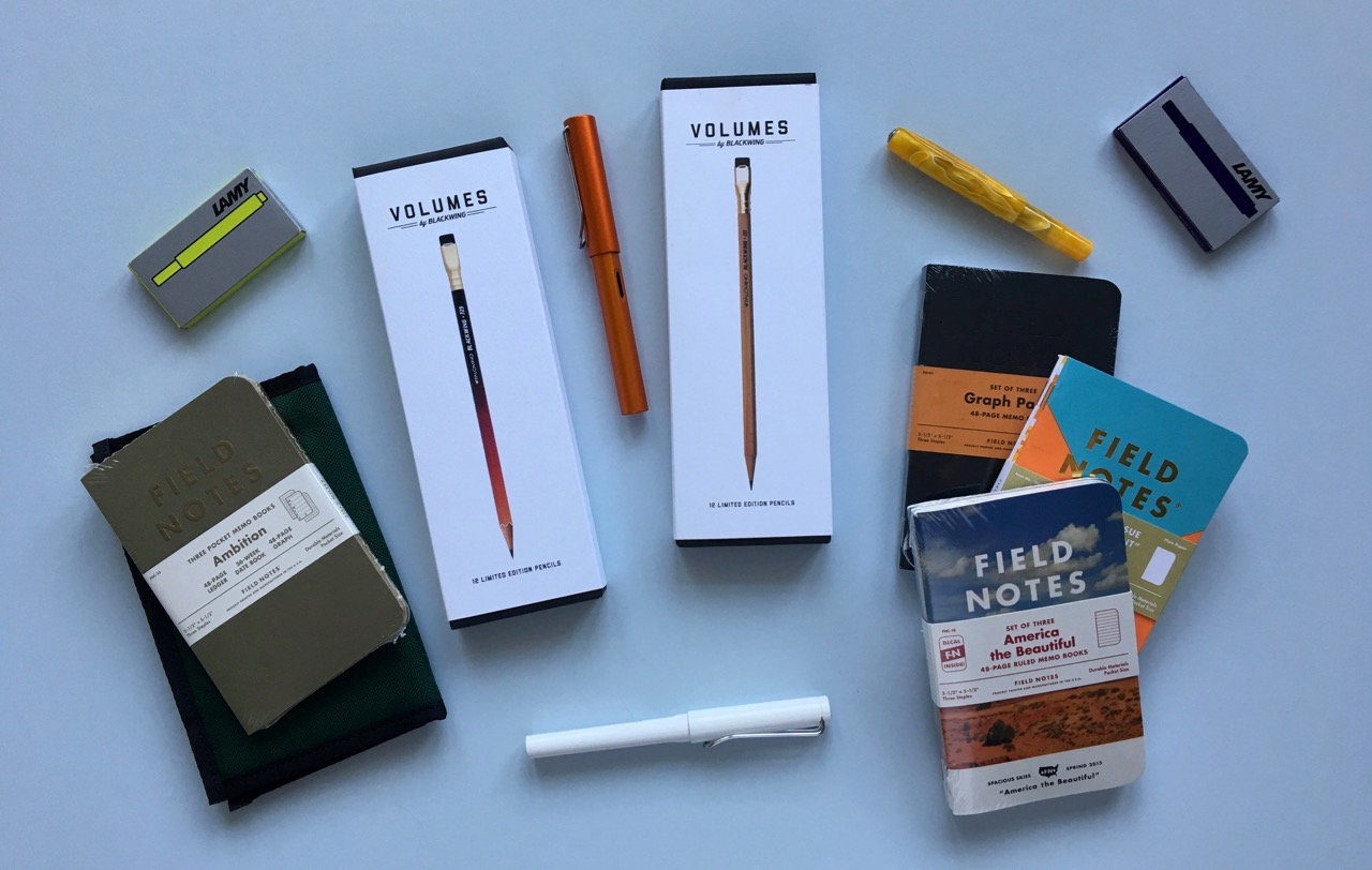 A selection of limited edition stationery items
