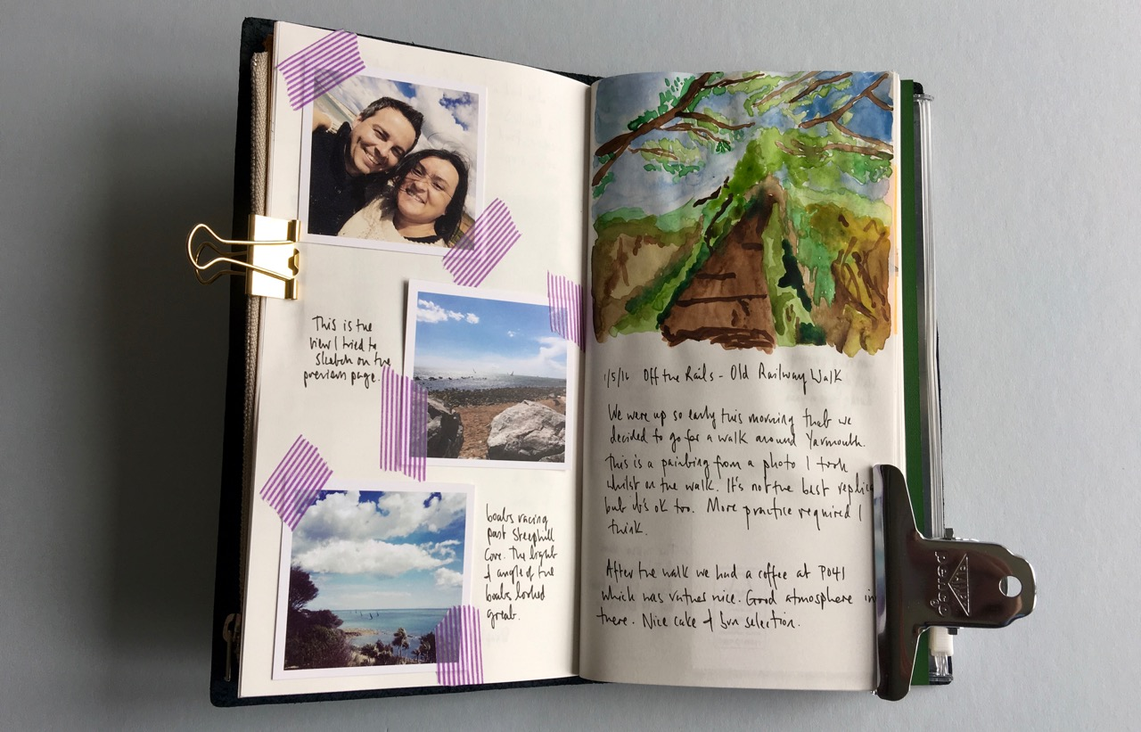 A bit of travel journaling from a recent trip to the Isle of Wight