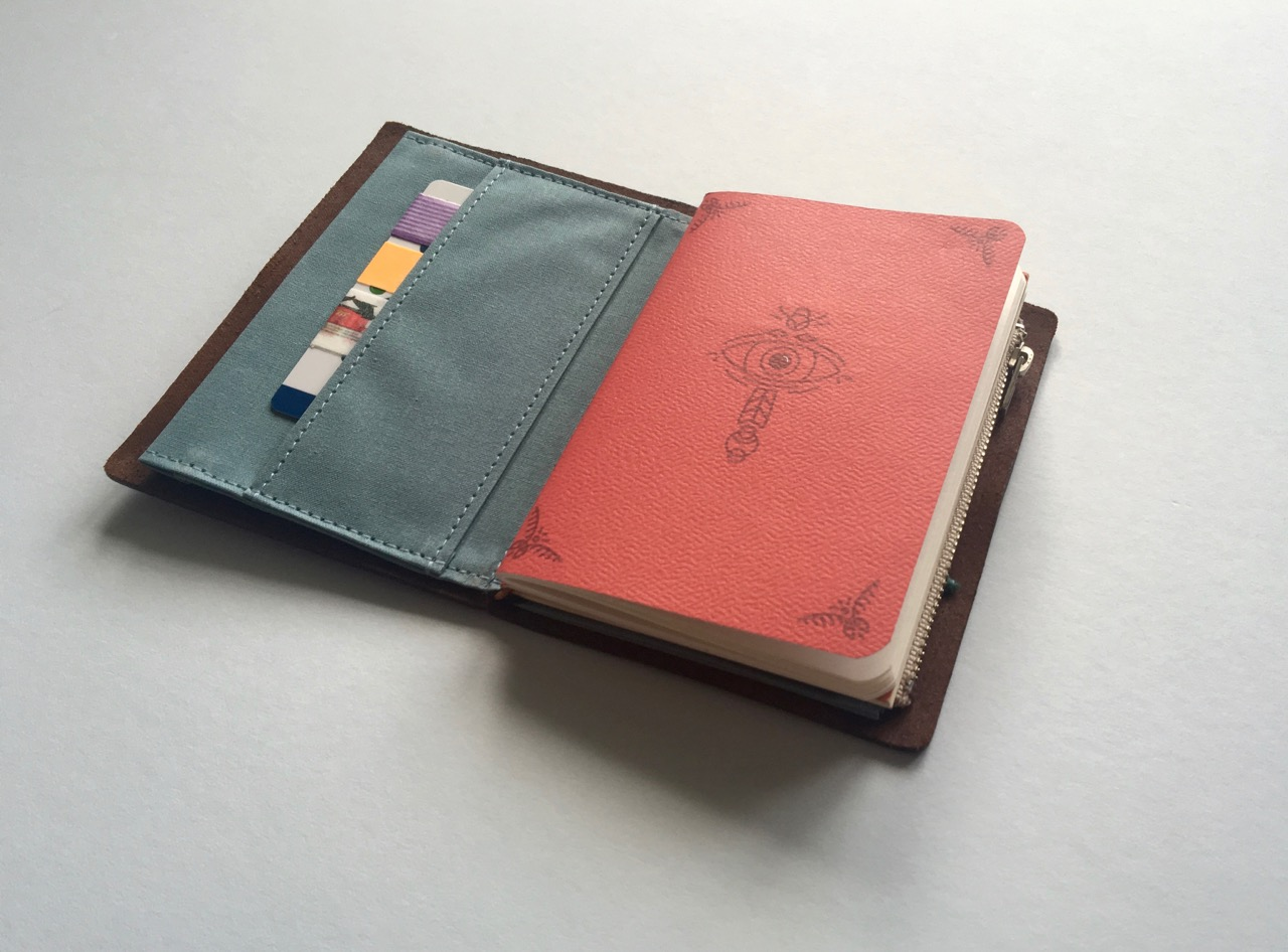 My passport sized Travelers Notebook