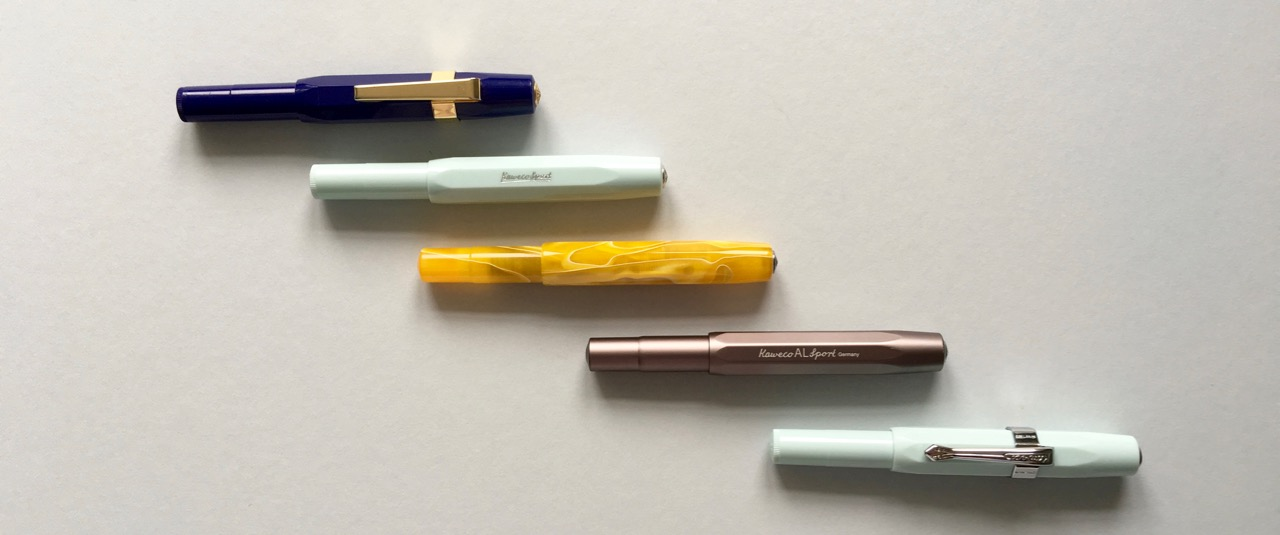 My Kaweco Sport fountain pen collection