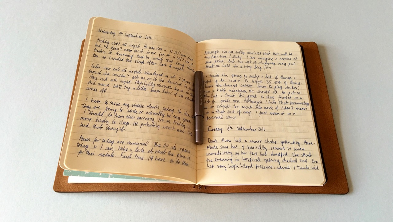 Morning Pages in my Startbay Notebook