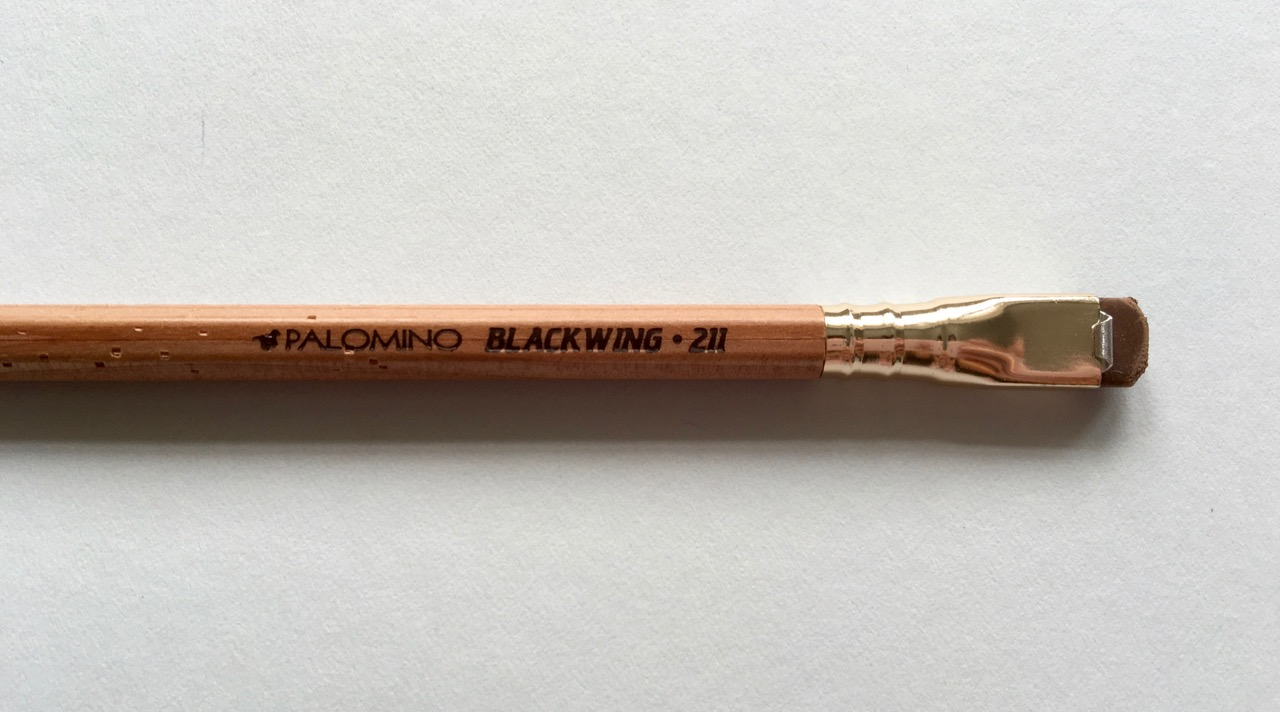 The gorgeous Blackwing 211, natural finish with a brown eraser