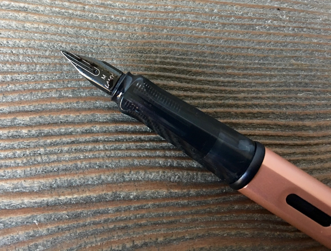 The sleek black nib