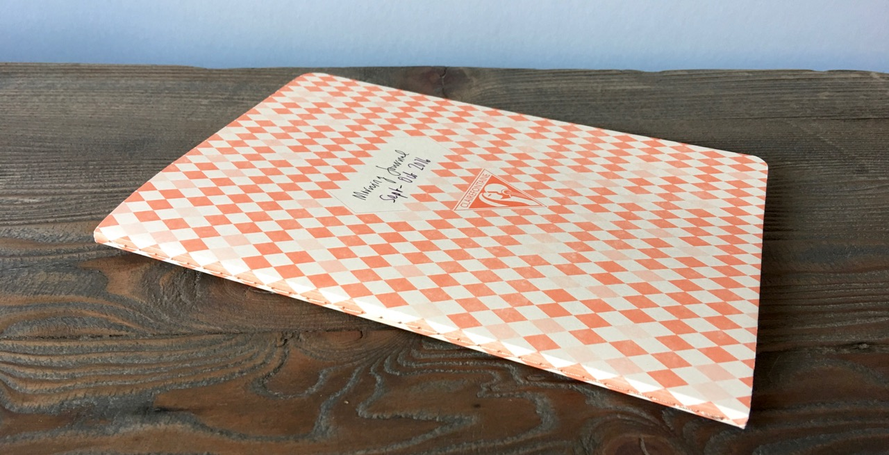 Stitched binding and ivory paper Clairefontaine notebook