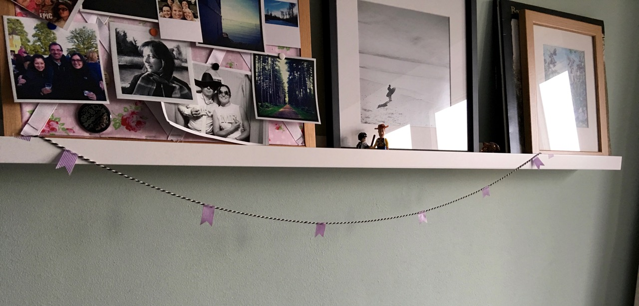 Pretty washi garland in my office