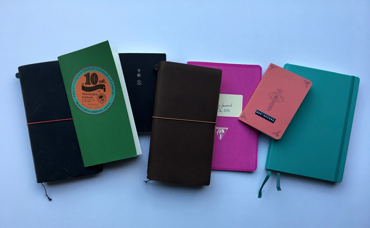 My 2016 collection of in use notebooks