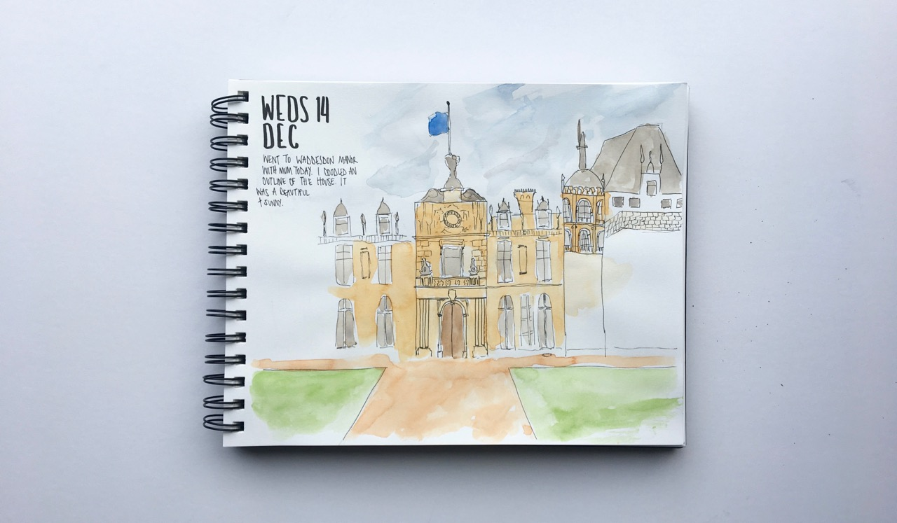 Waddesdon Manor sketch