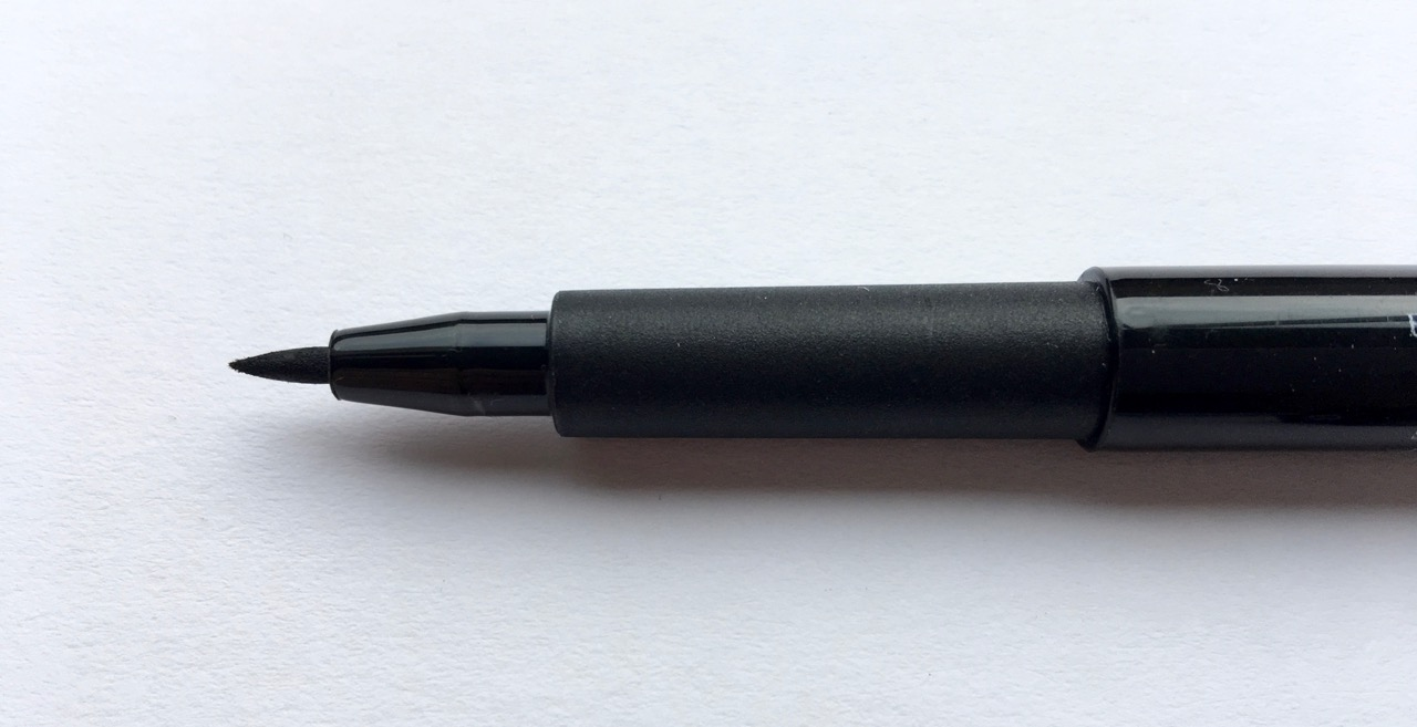 Faber-Castell B pen. The tip is quite brush like