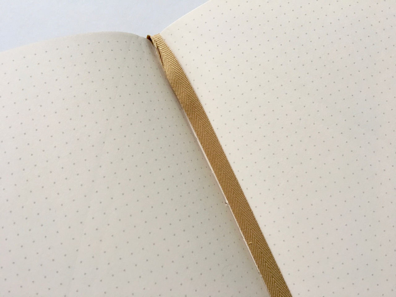 Beautiful gold ribbon page marker
