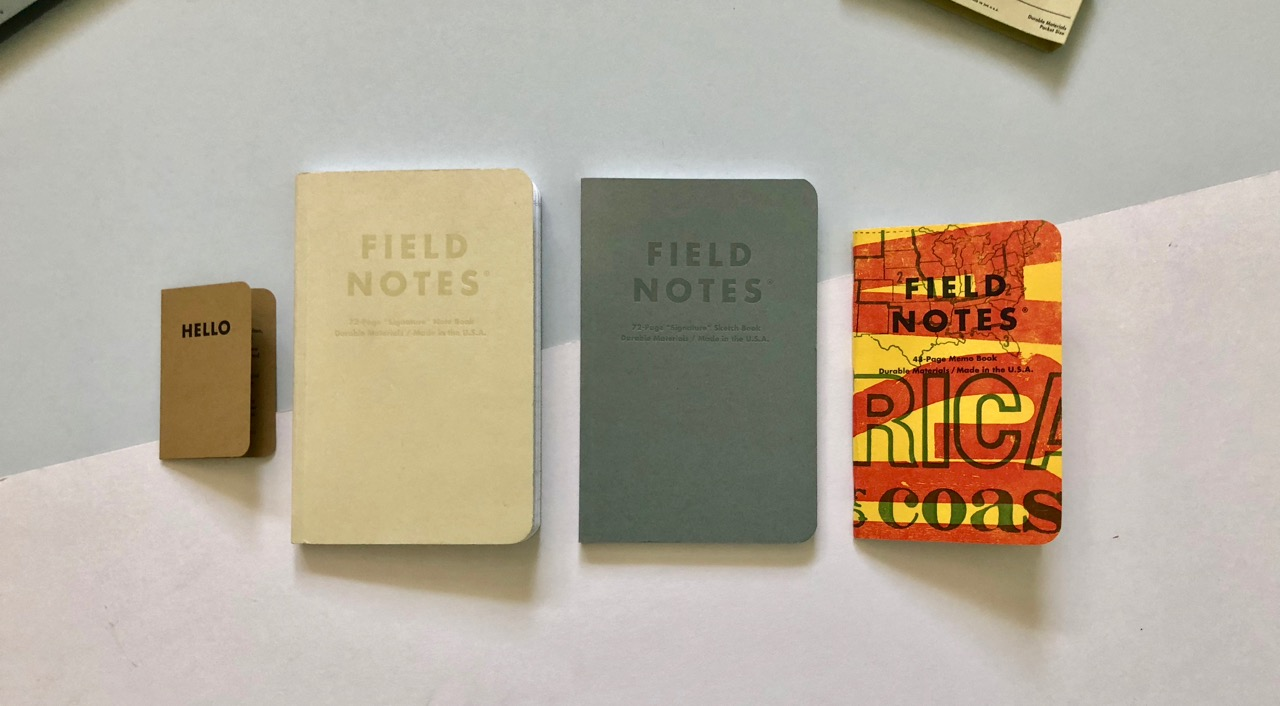 Size comparison against a Two Rivers pocket size Field Notes