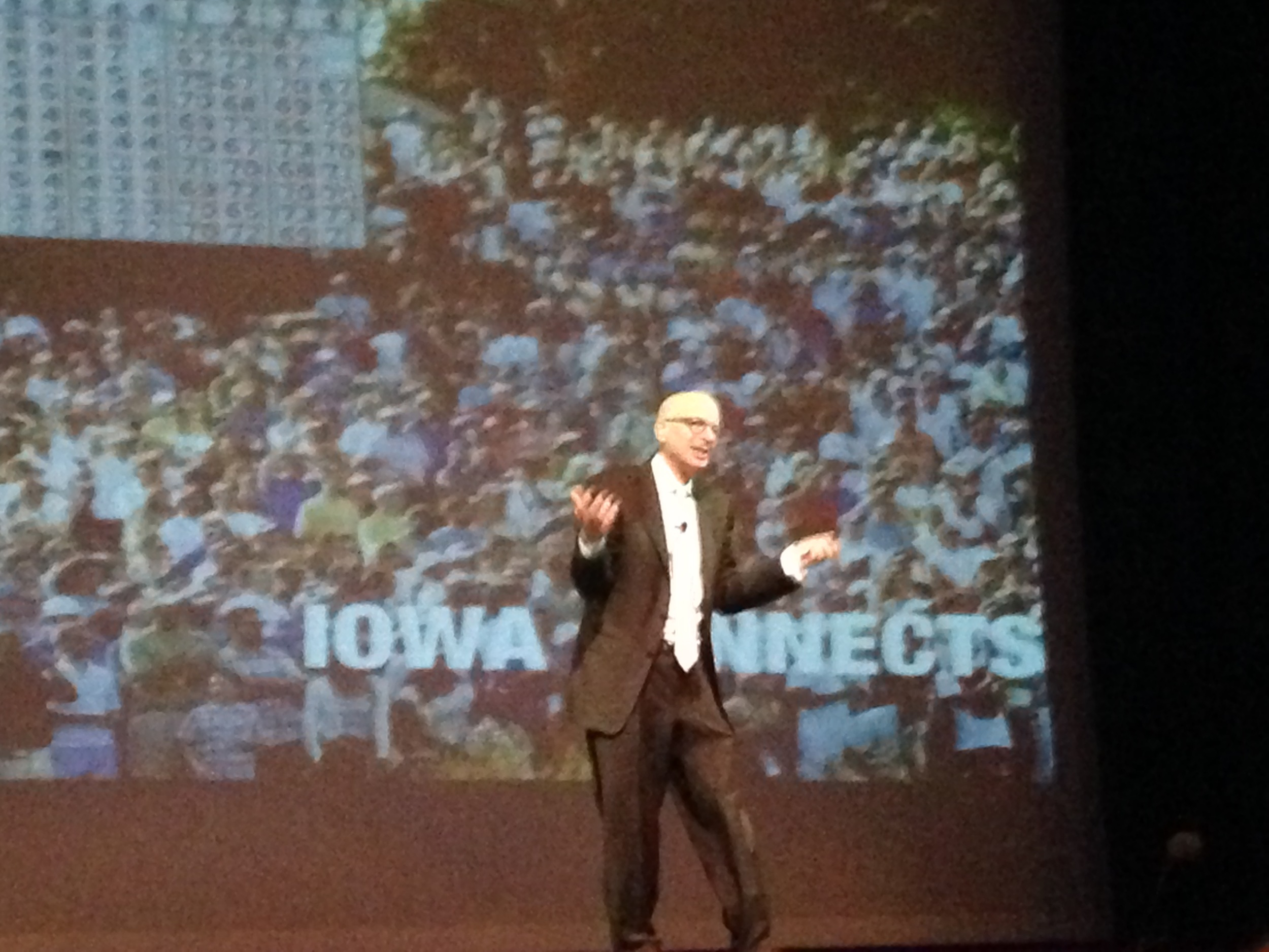 Seth Godin during his closing keynote.