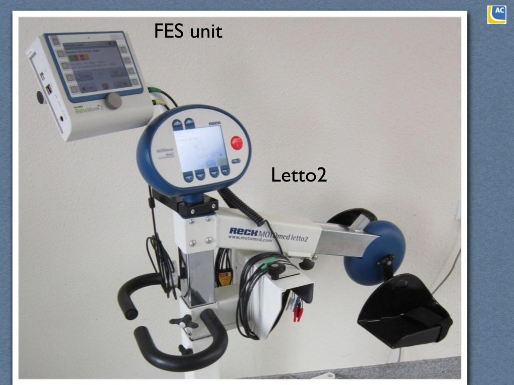 The FES unit mounts onto the Letto 2