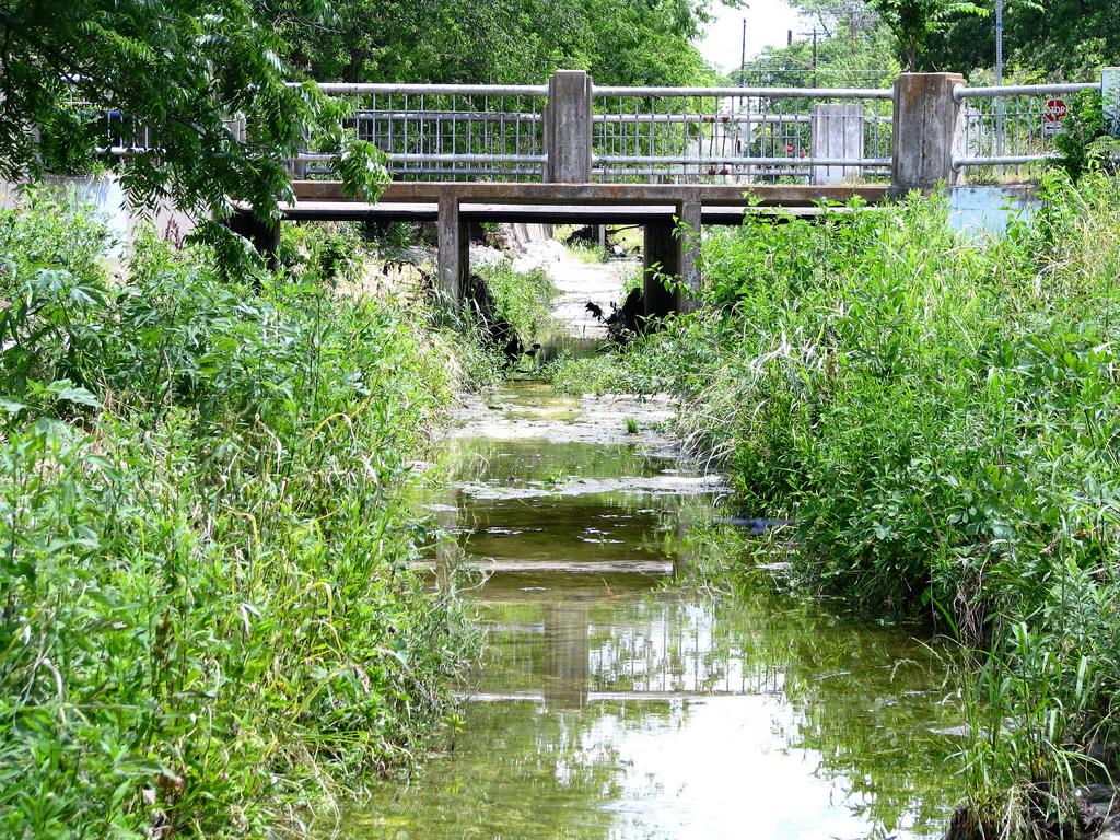 Waller Creek Existing Conditions.Photo via  Flickr:micklpickl