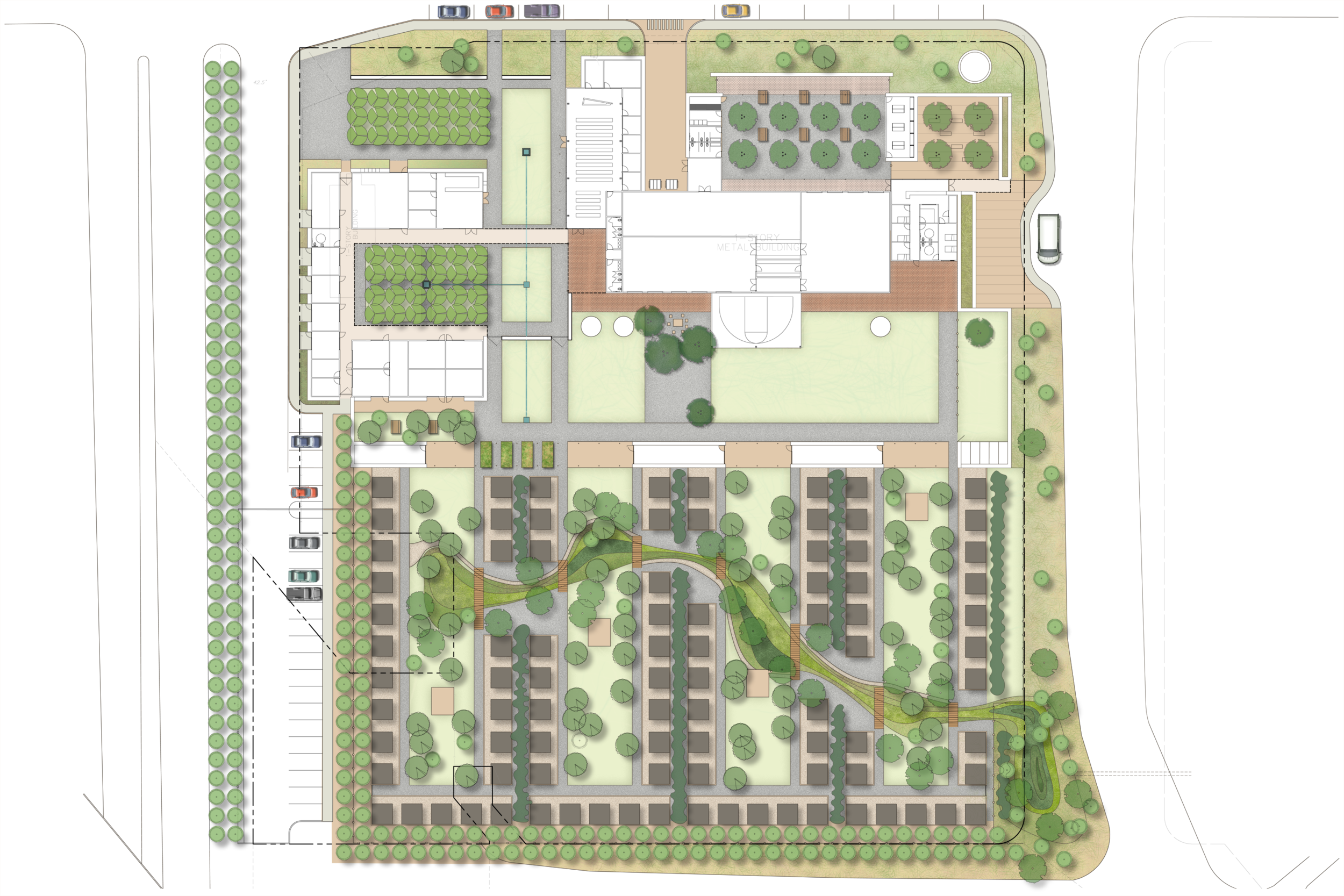 High Cotton site and proposed site plan. Image by Studio Outside.