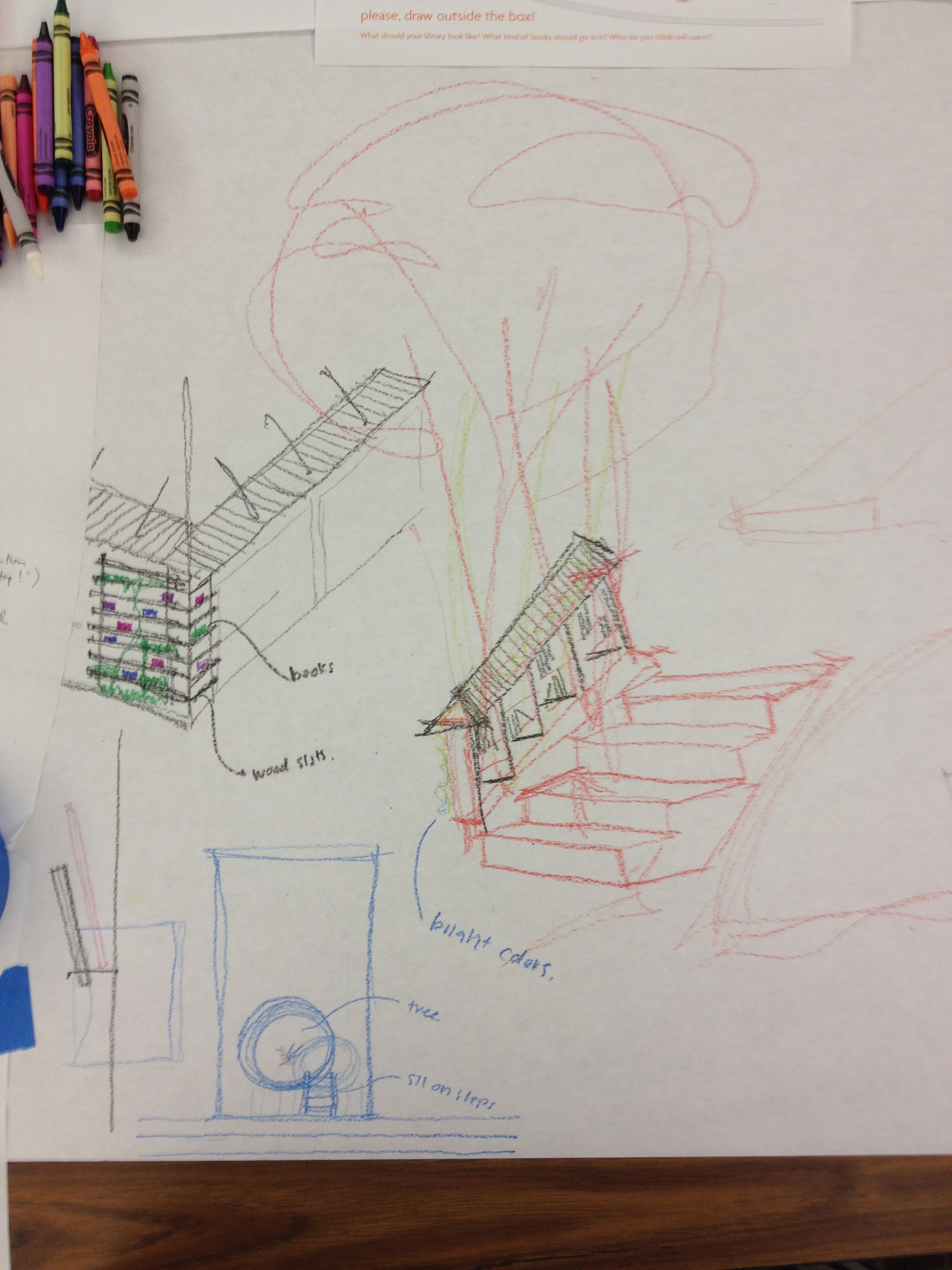 Some quick sketches from the community meeting looking at site, context, and conceptual ideas.
