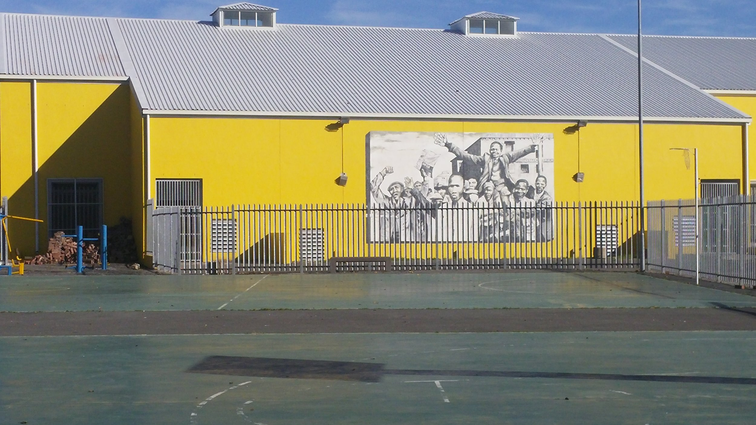 Local school wall