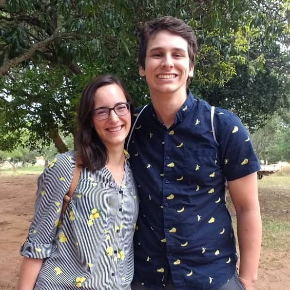 "Matching for a day in Lusaka. ""When life gives you lemons, go bananas."""