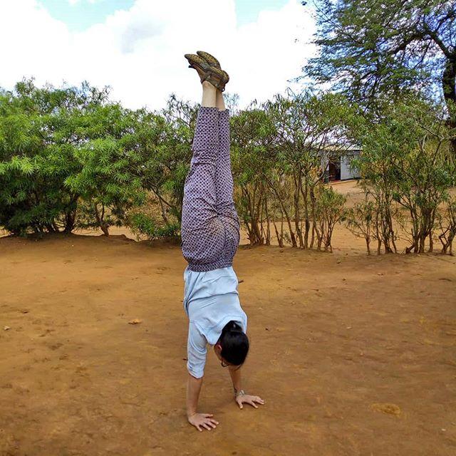Even in Africa #handstand everyday