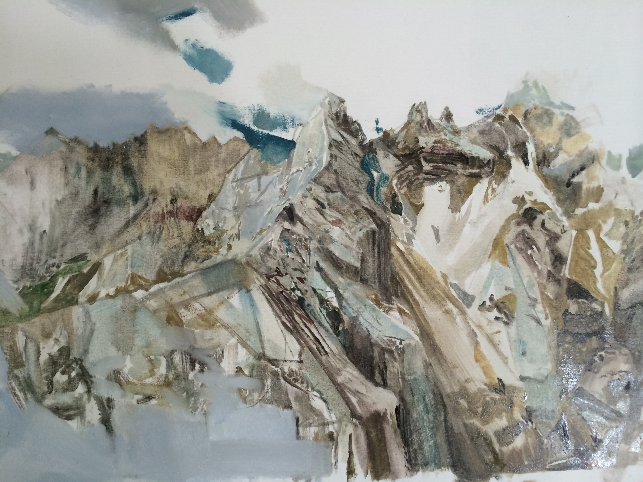 2014 Untitled VIII (Marmolada), oil on canvas 18x13 inches