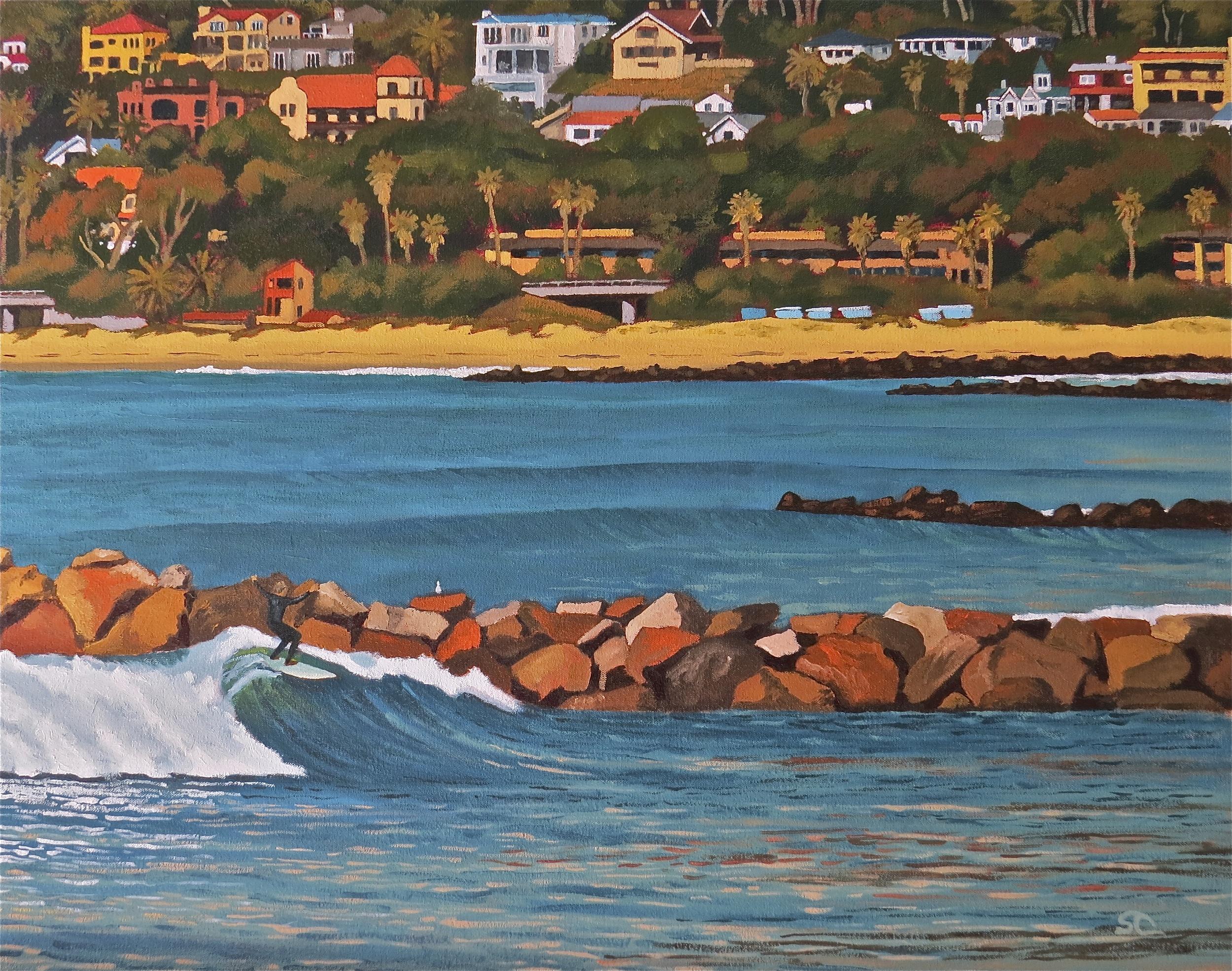 """""""Costa Azul, Ventura"""" oil on canvas 24 x 30  SOLD"""
