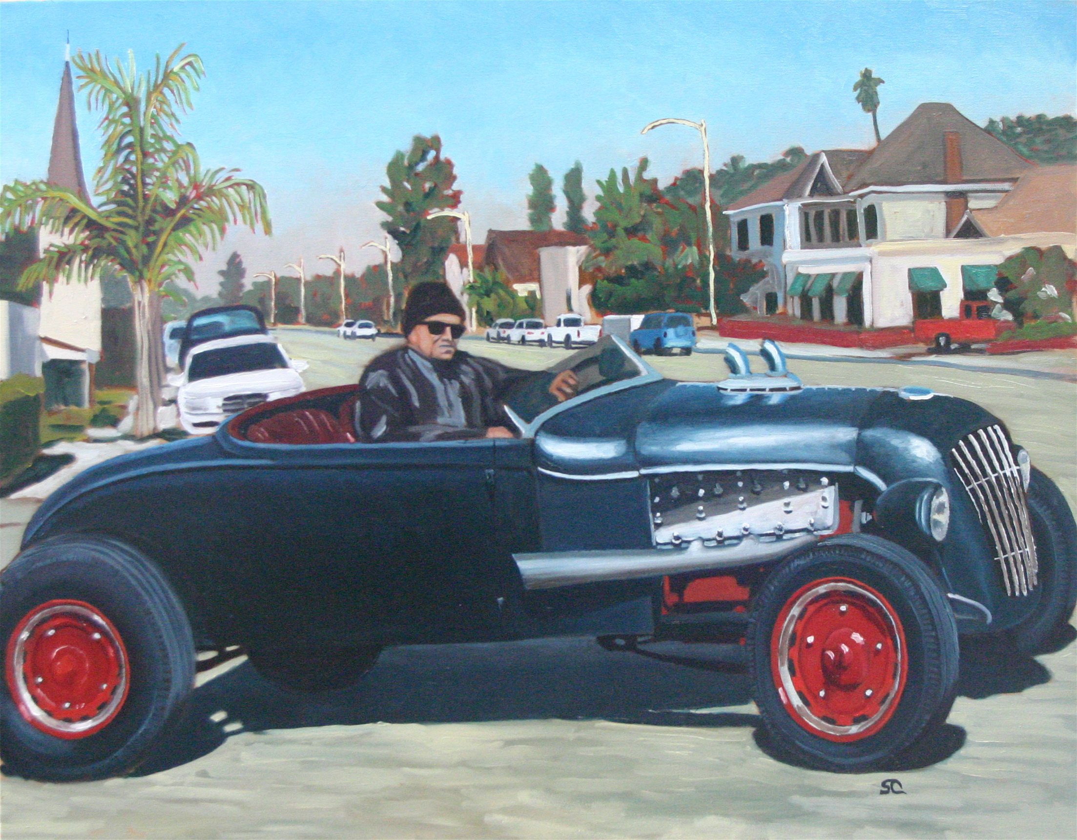 """Old School"" oil on canvas 24 x 30."