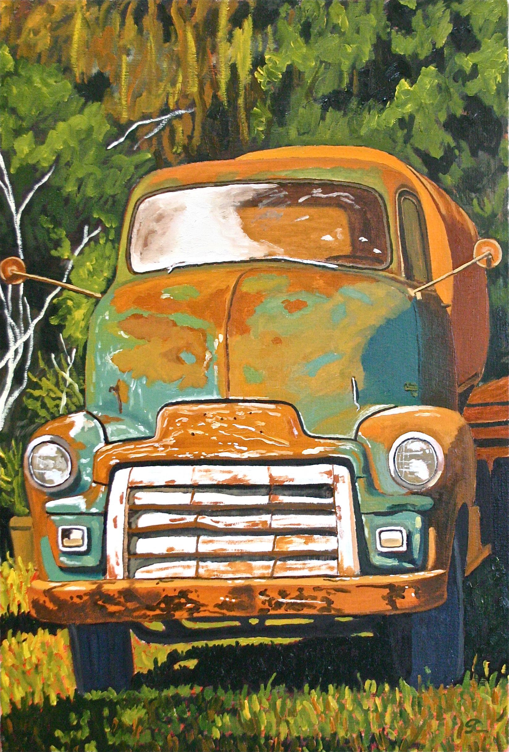 """""""Rusty Tall-boy"""" oil on canvas 20 x 30"""