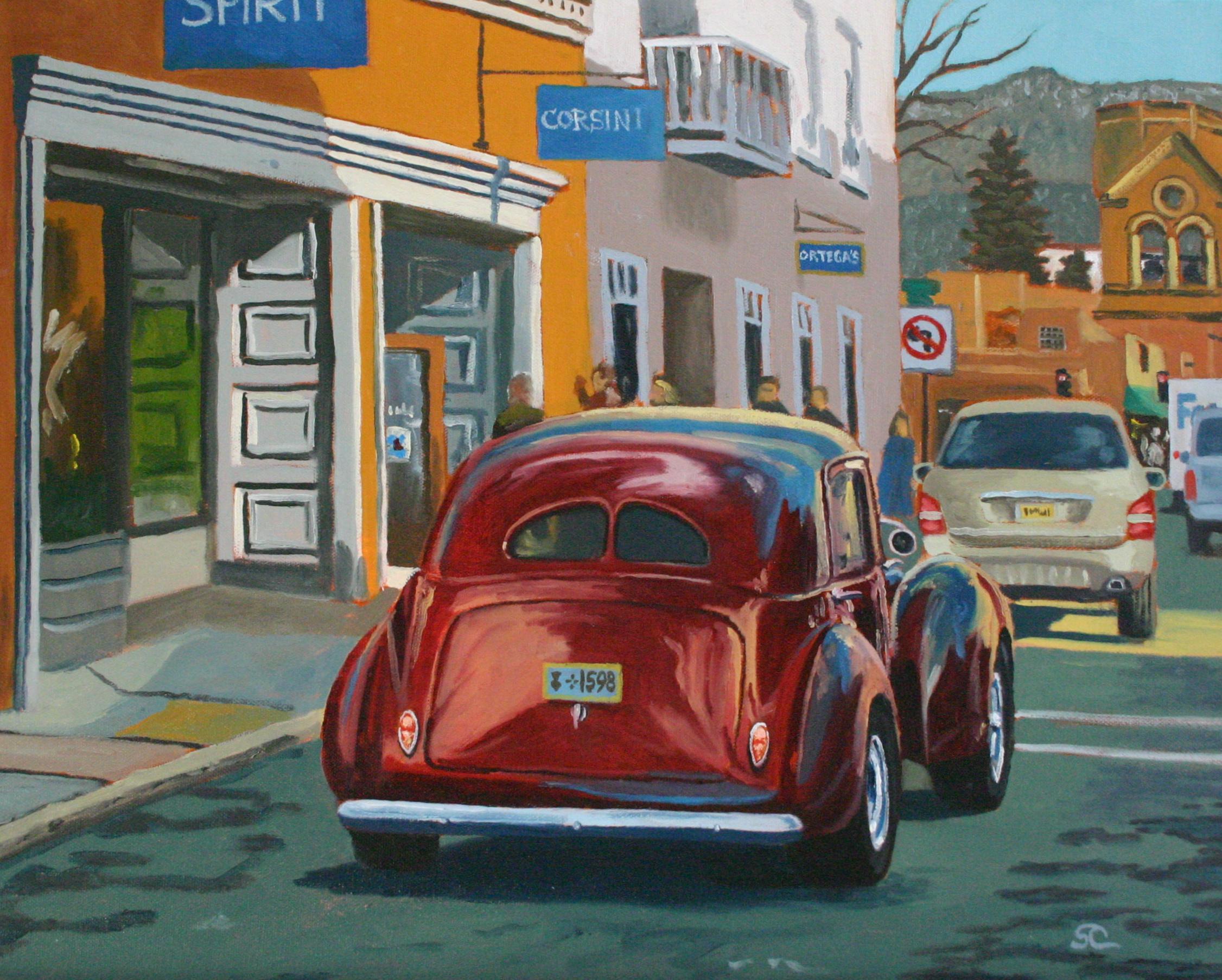 """""""Santa Fe Slow Cruise"""" oil on canvas 16 x 20"""