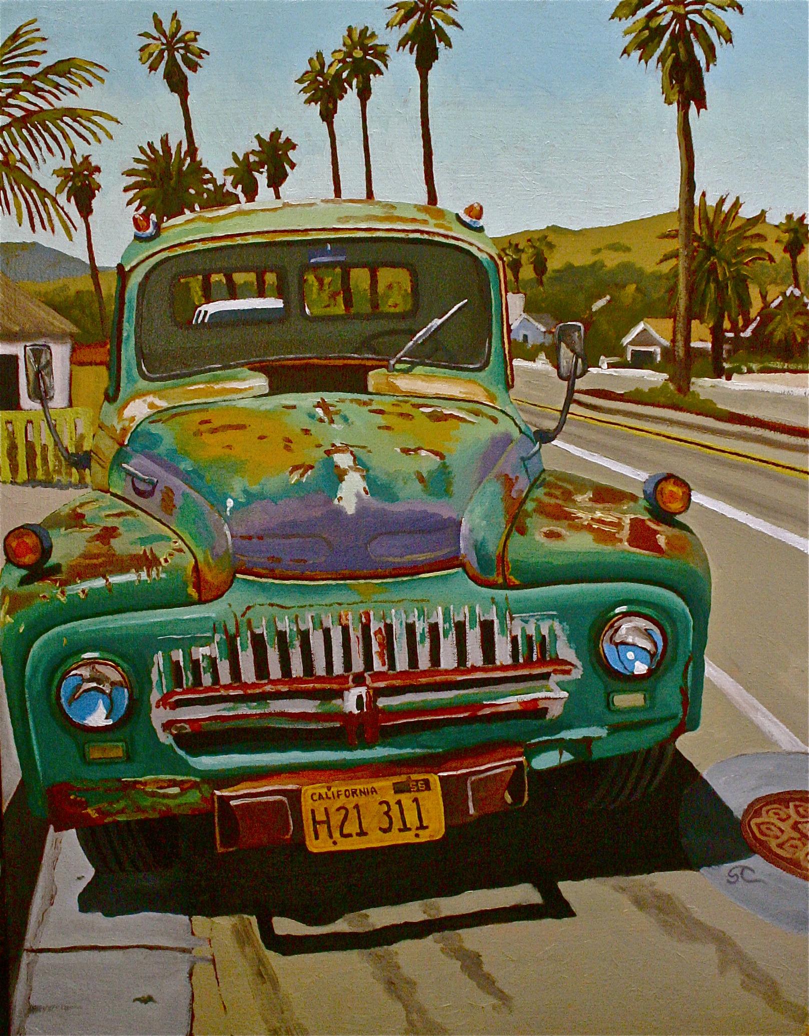 """International Harvested"" oil on canvas 22 x 28"