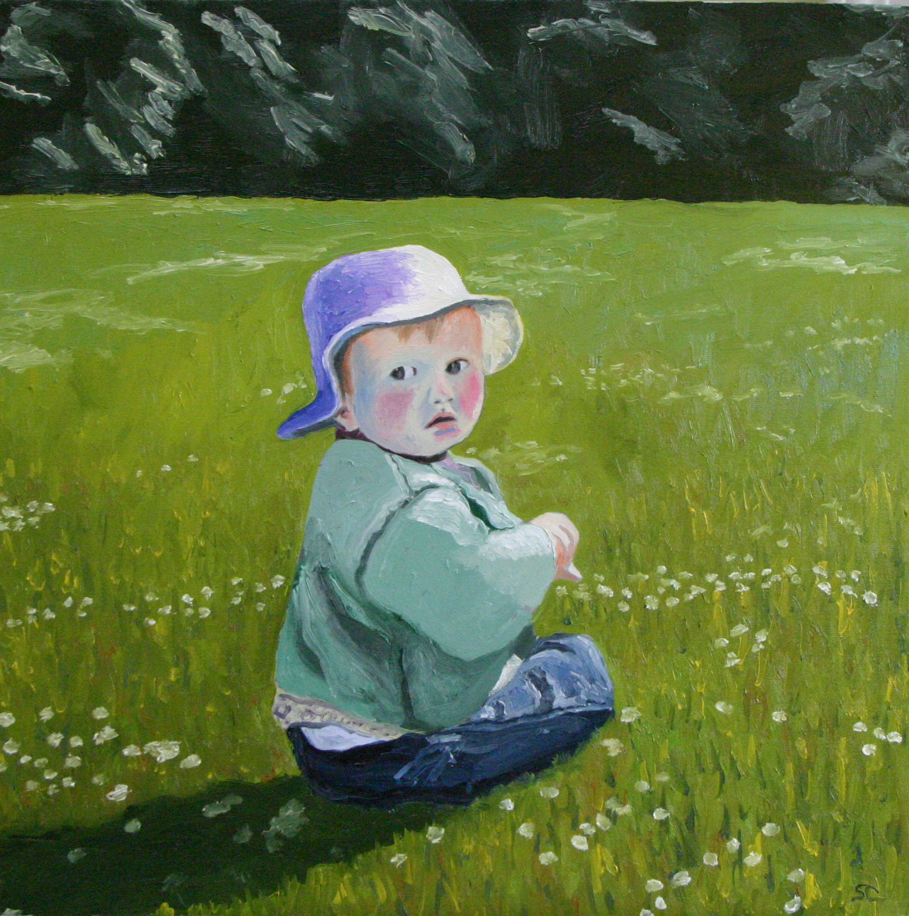 """""""Rosie Prowse"""" oil on panel 12 x 12, sold"""