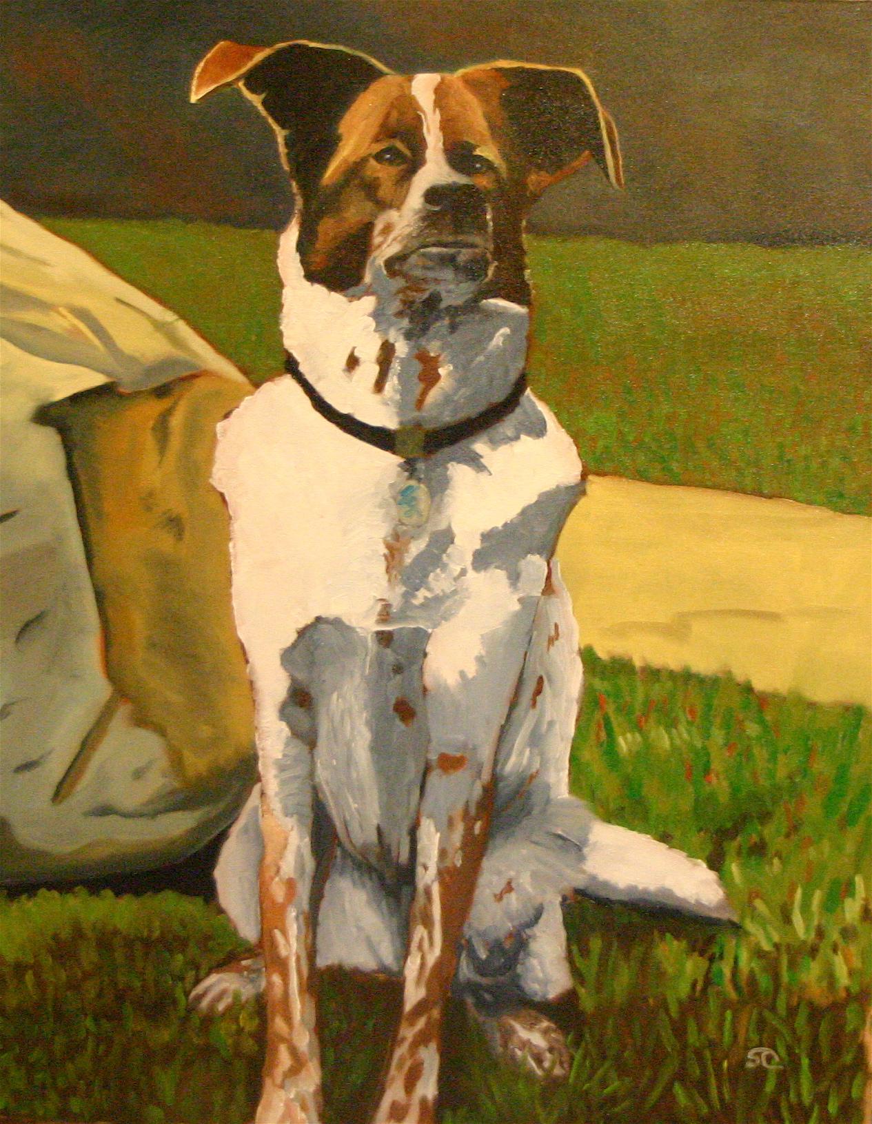 """Calli"" oil on canvas 18 x 24, sold"